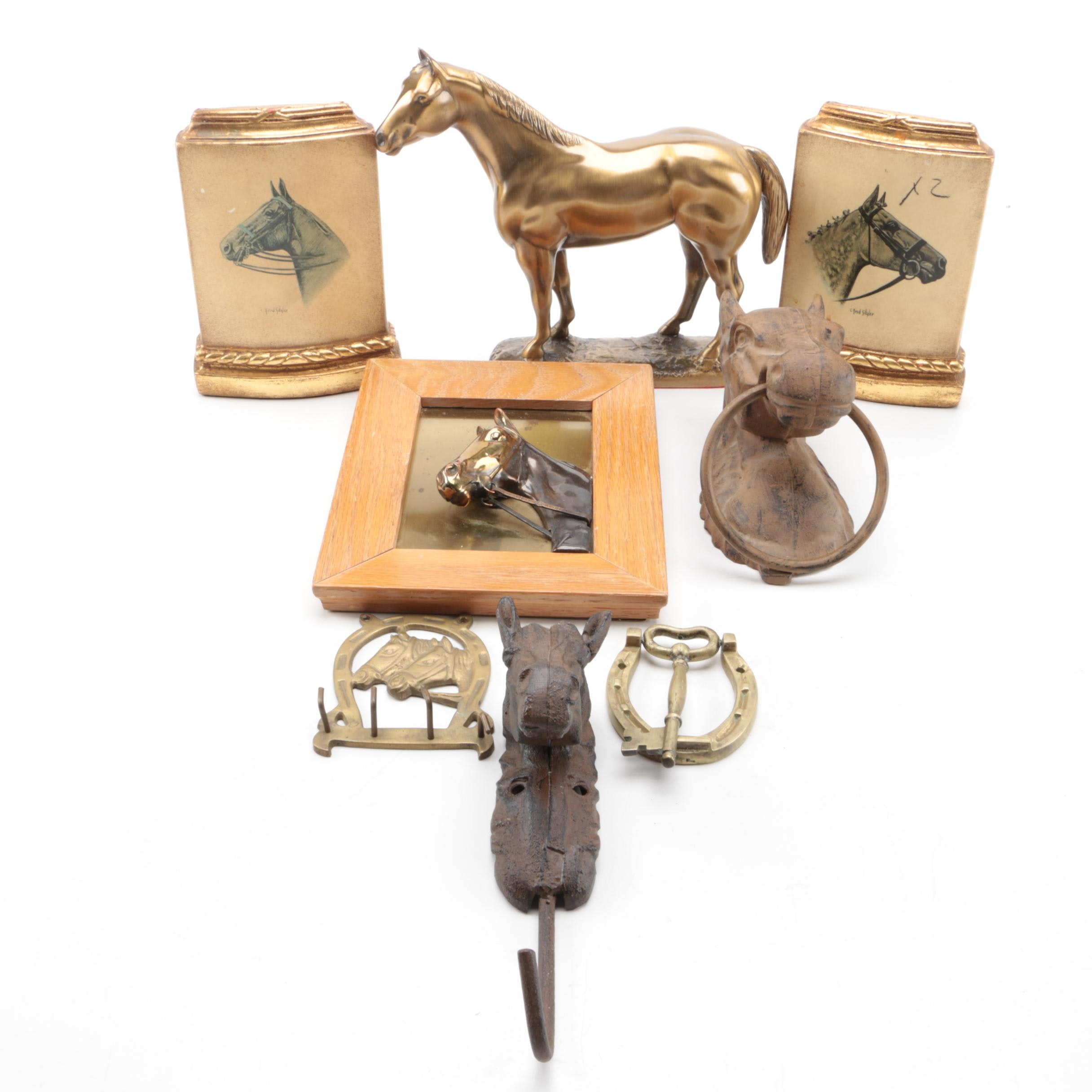 Collection of Equestrian-Theme Decorative Items