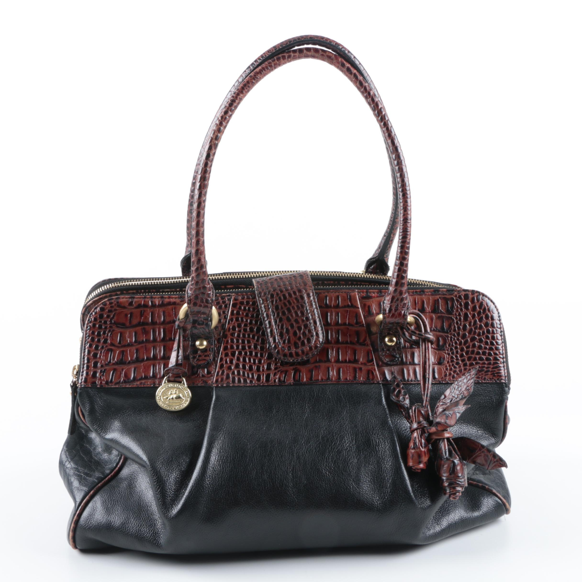 Brahmin Handbag with Embossed Accents
