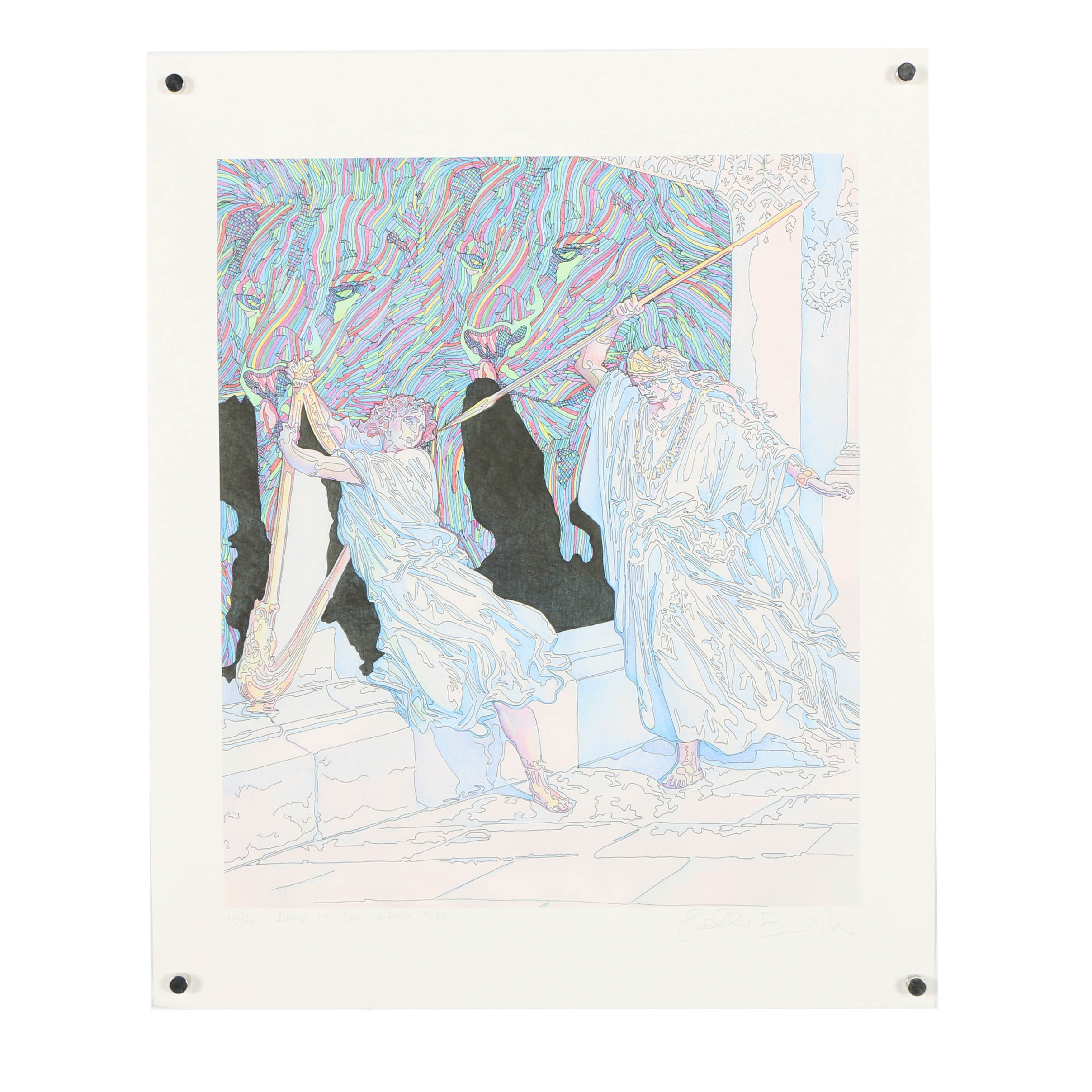 """Guillaume Azoulay Limited Edition Giclee """"David Et Saul"""""""