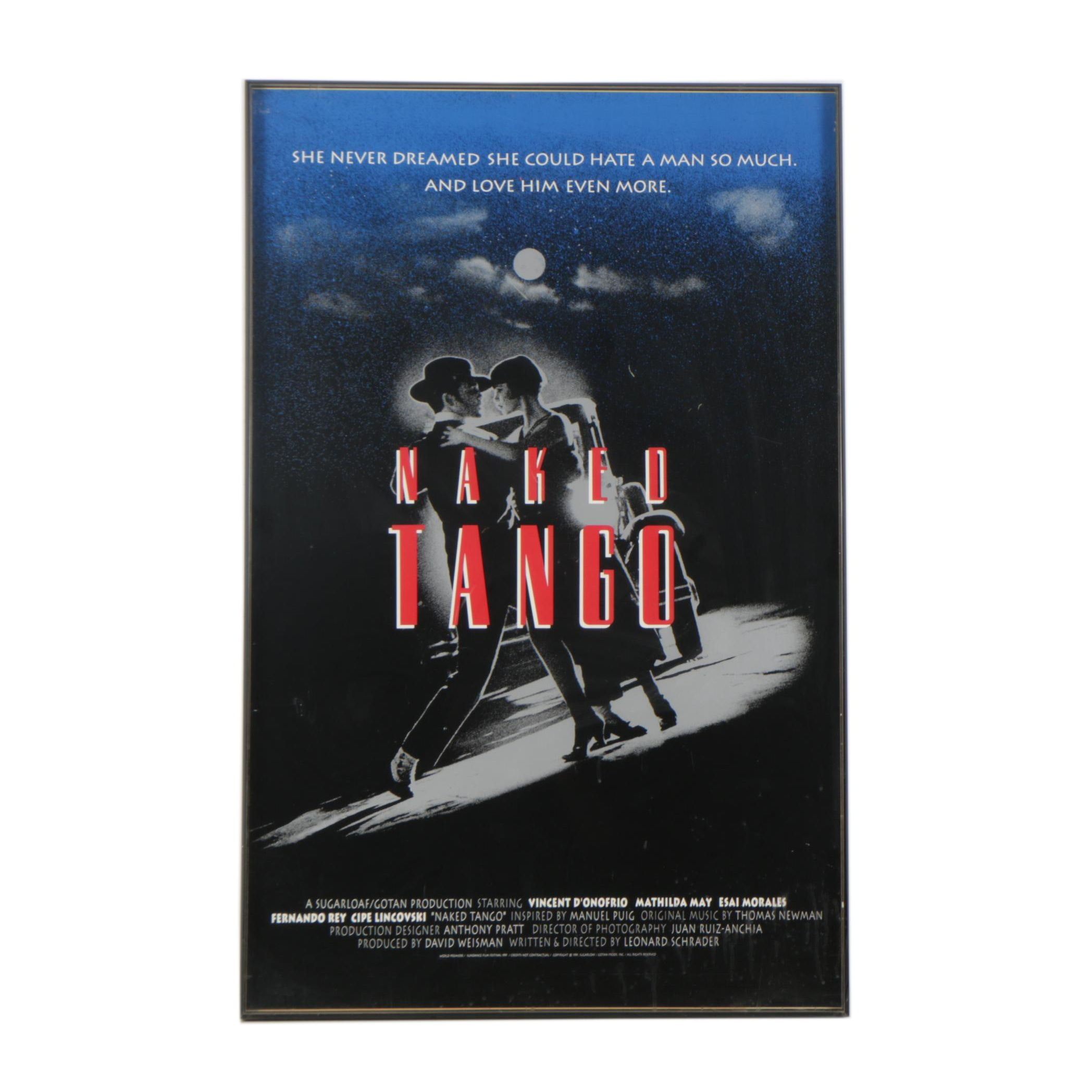 """Serigraph Film Poster for """"Naked Tango"""""""