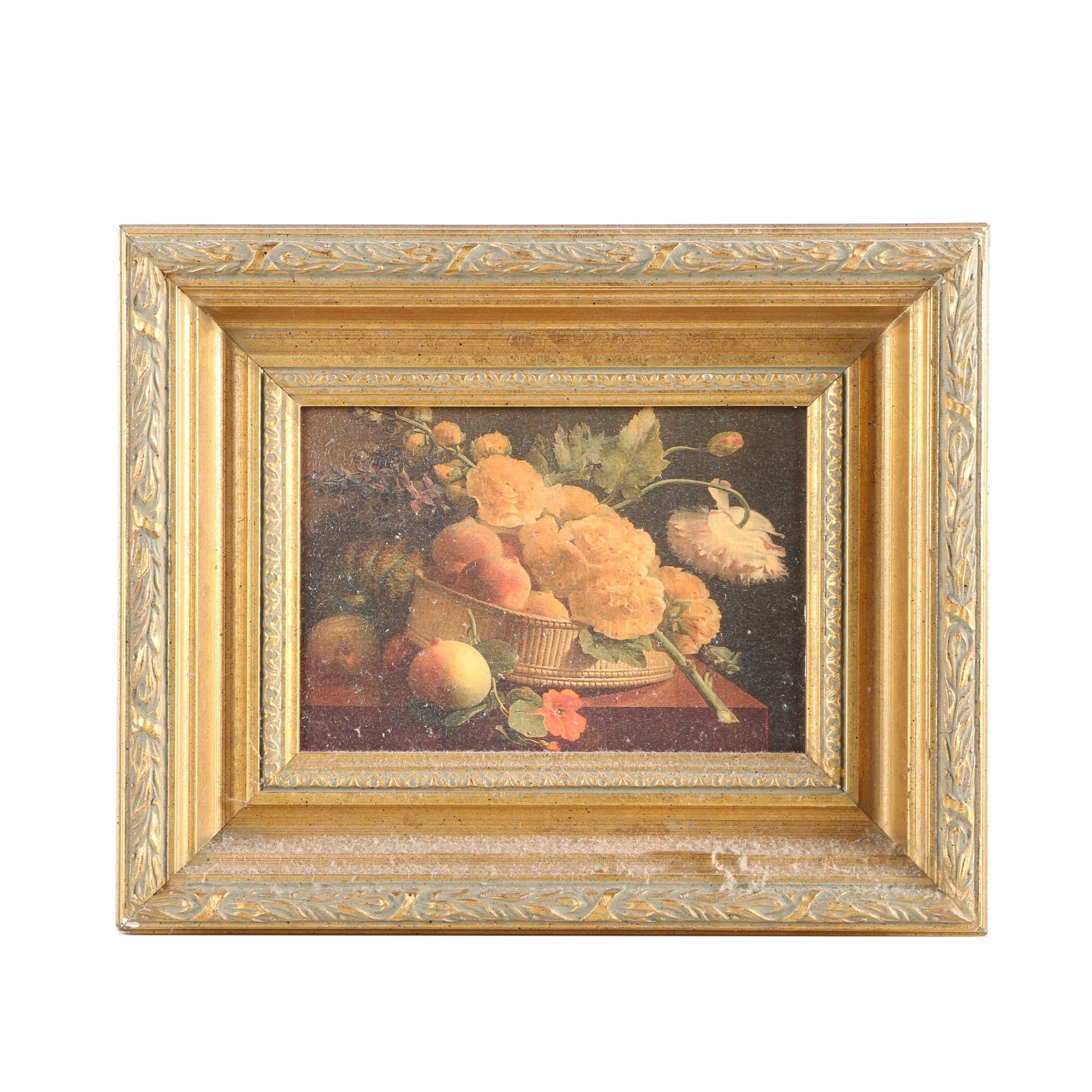 """Embellished Giclee After Antoine Berjon """"Still Life With Flowers"""""""