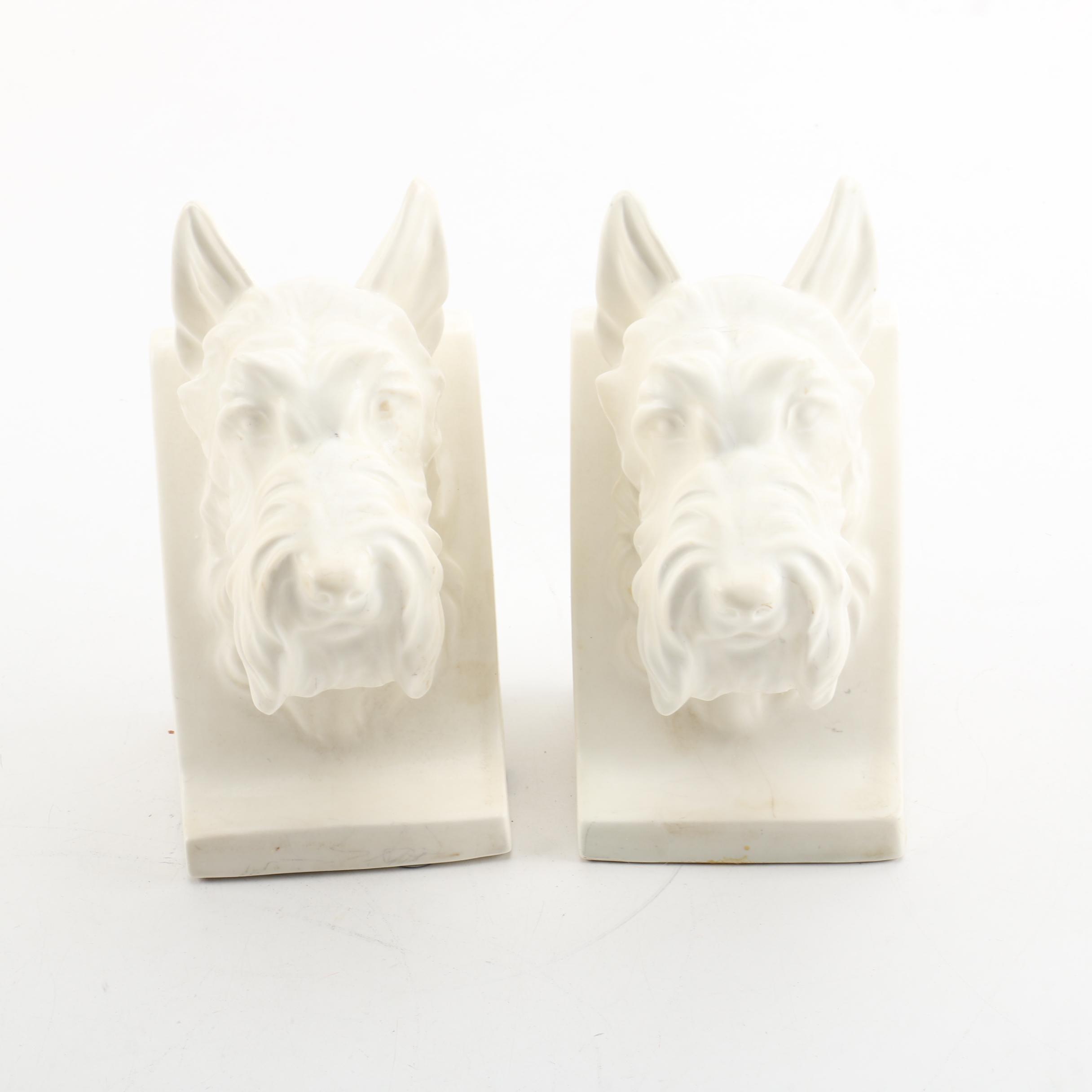 Ceramic Scottish Terrier Bookends
