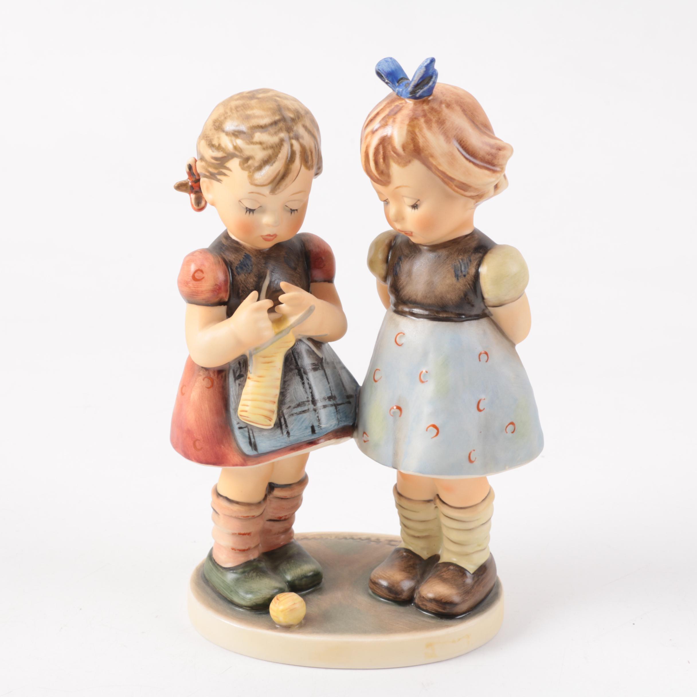 "M.I. Hummel ""Knitting Lesson"" Porcelain Figurine"