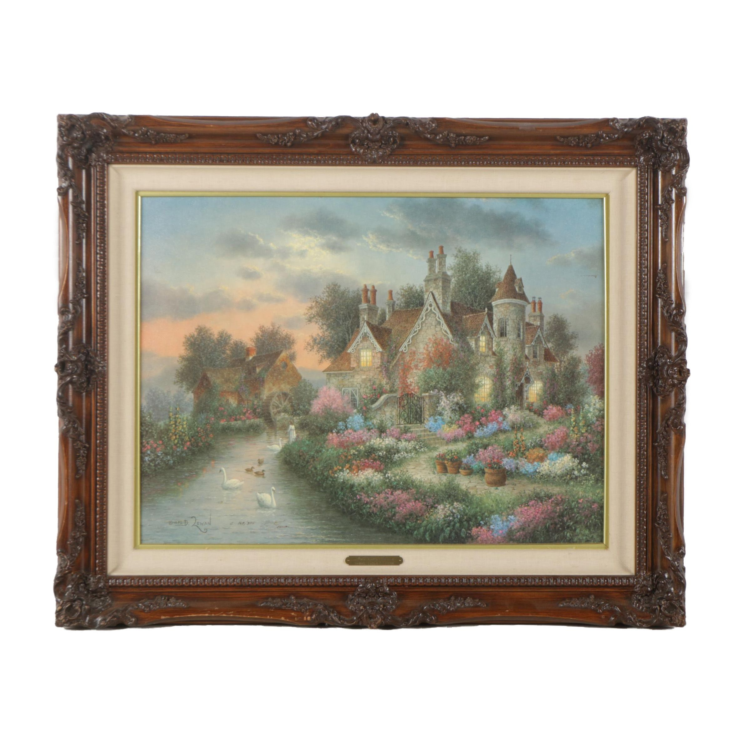 "Dennis Patrick Lewan Limited Edition Offset Lithograph ""Mill Creek Manor"""