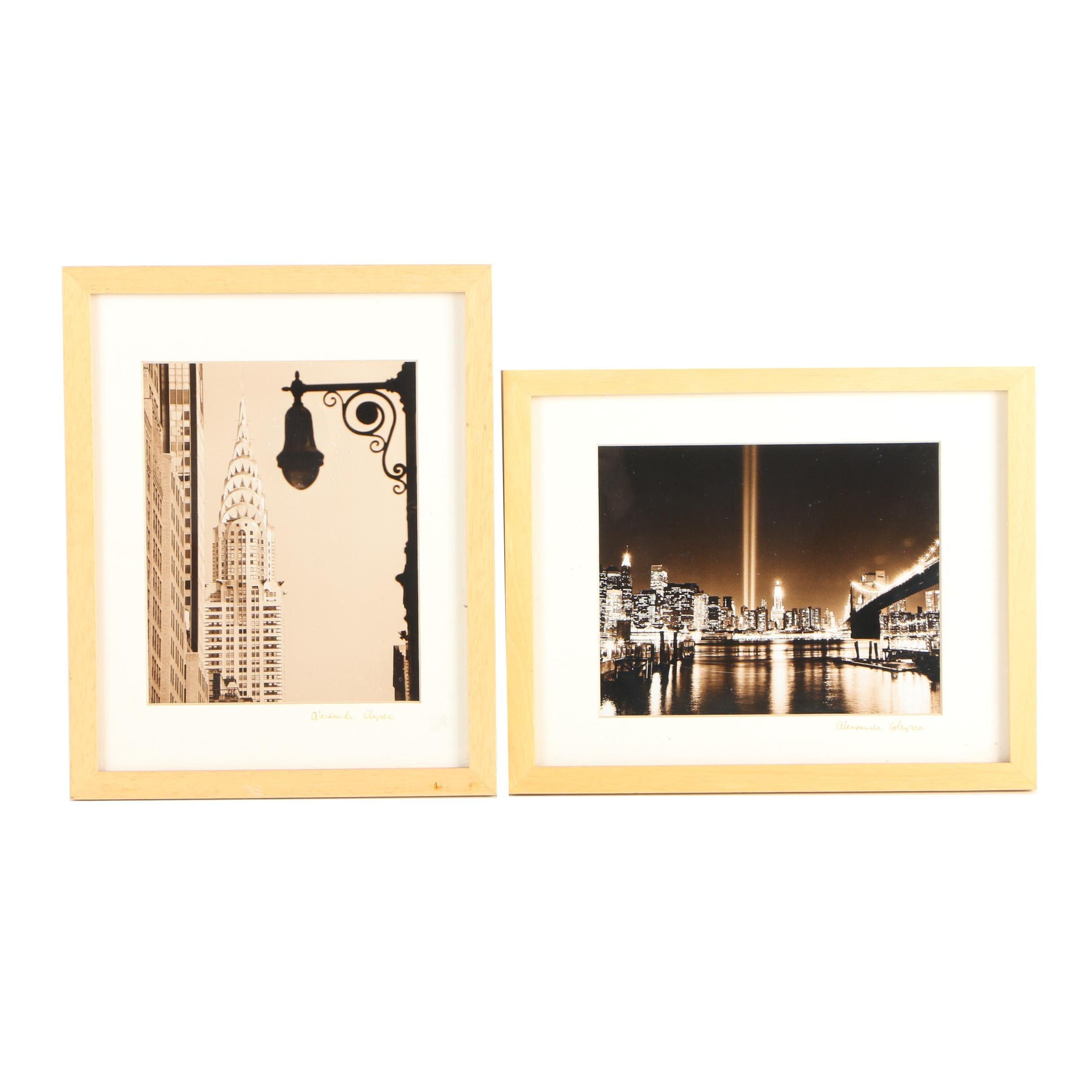 Two Alexandr Gleyzer Digital Photographs of New York