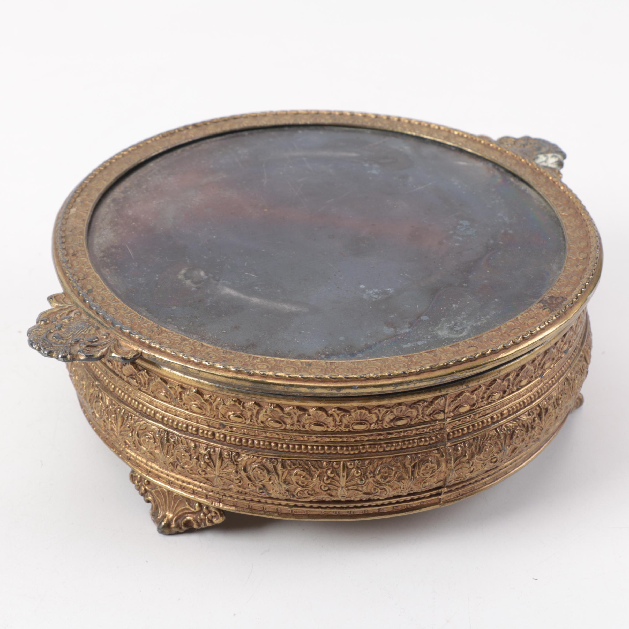 Vintage Ormulu Jewelry Casket