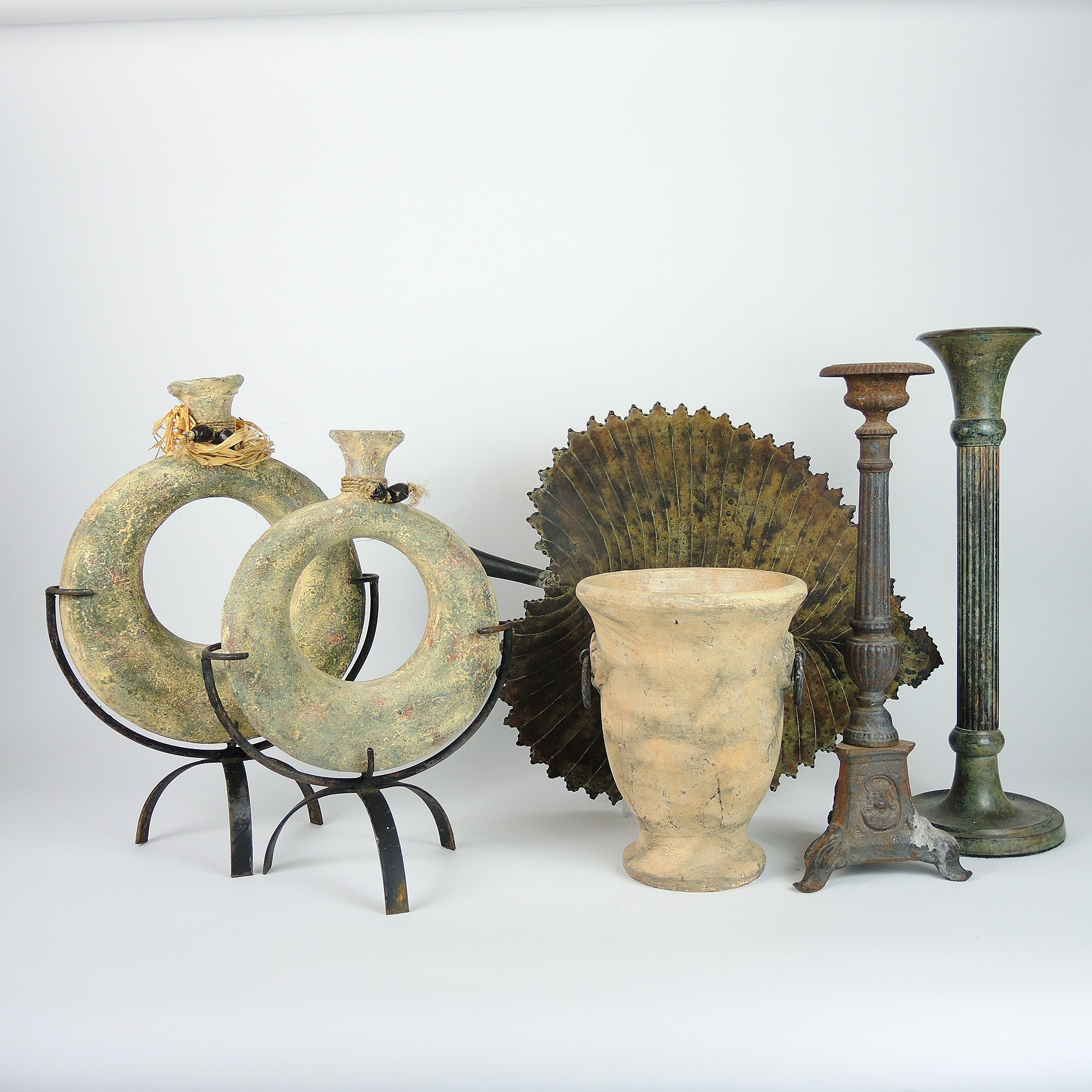 Handmade Stoneware Featuring Greek Vases