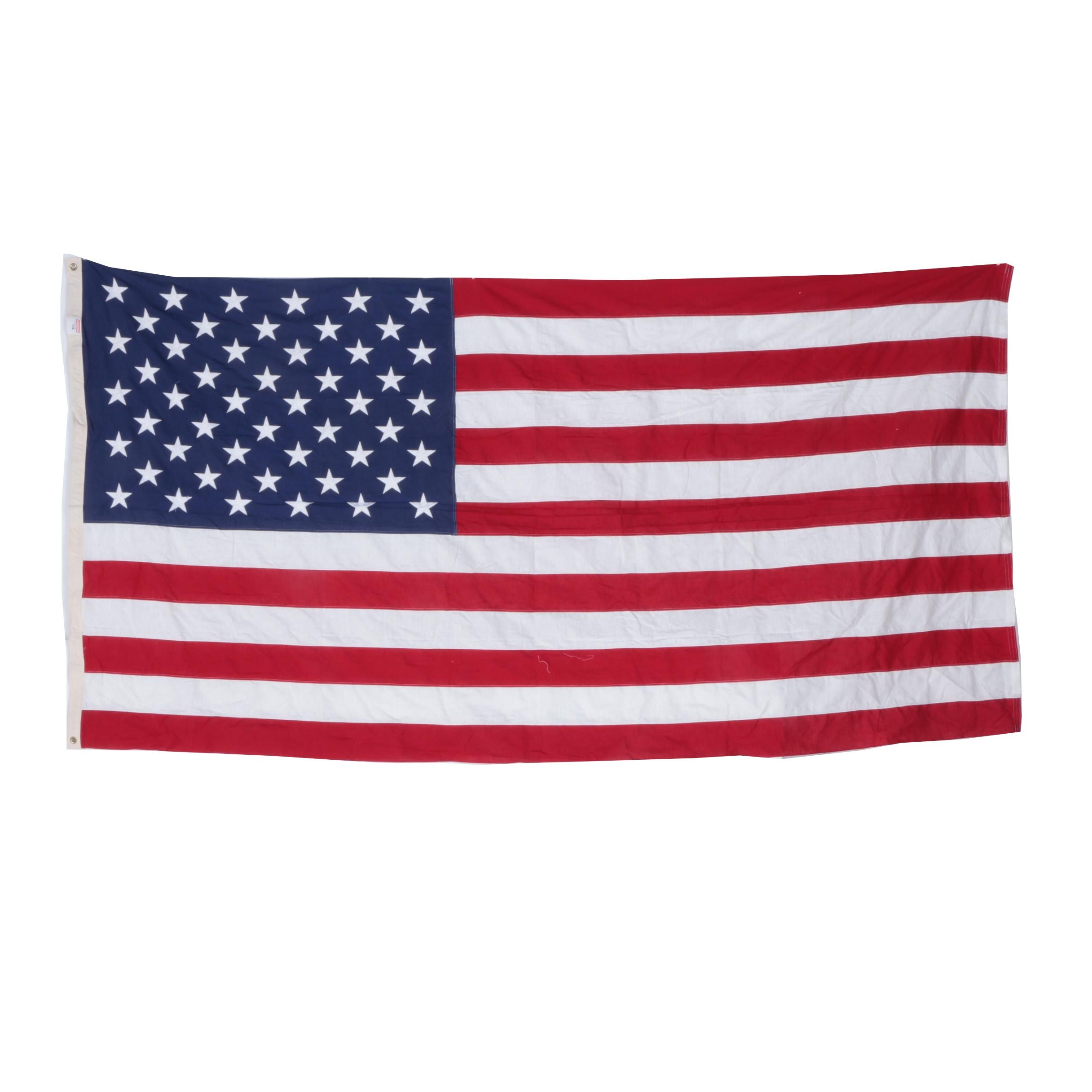 Embroidered Fifty Star United States Flag