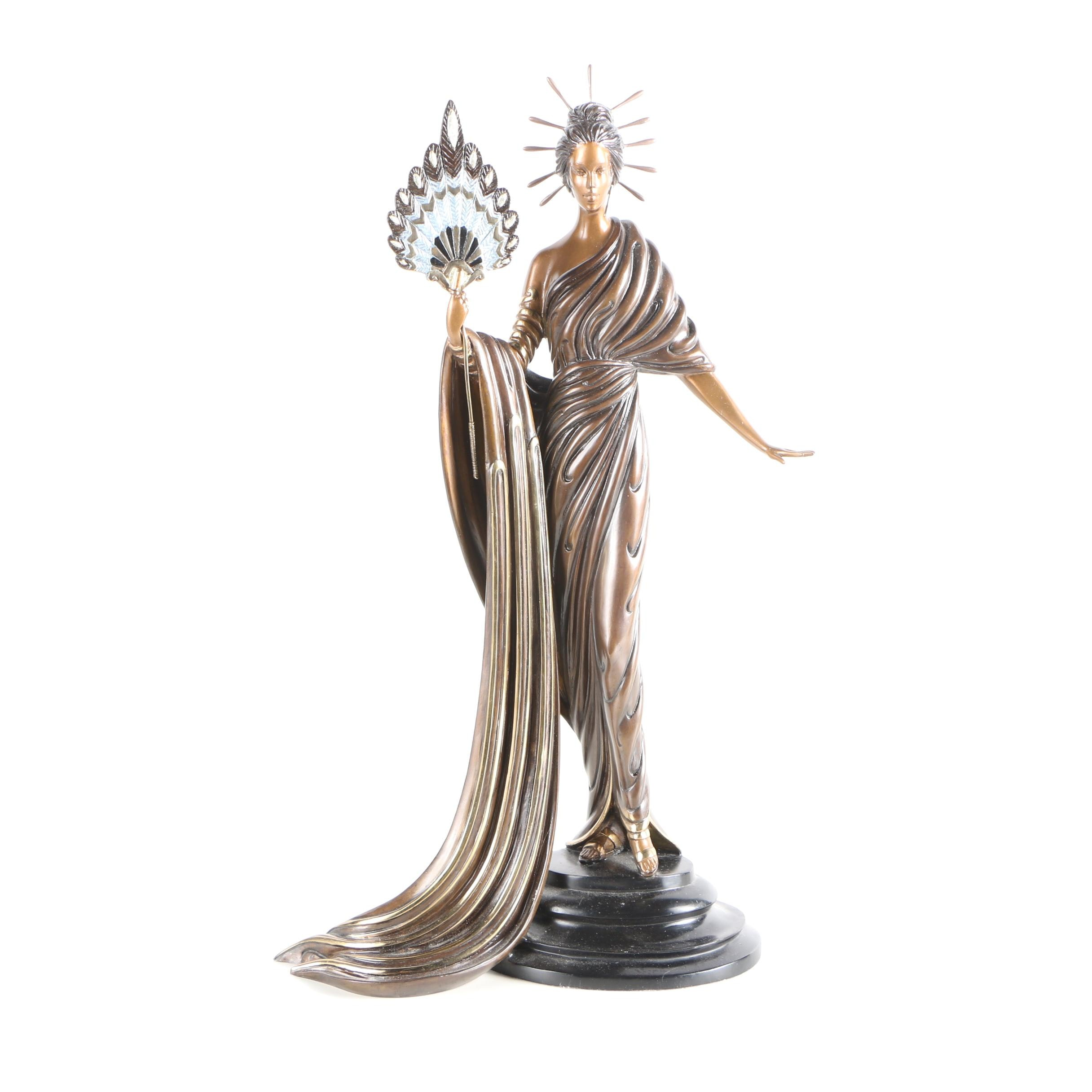 "Erté Patinated-Bronze Sculpture ""Aphrodite"""
