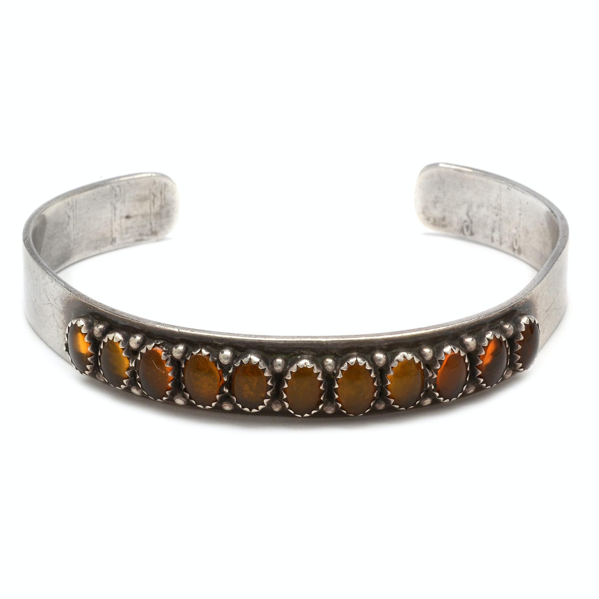 J. Begay Sterling Silver Cuff Bracelet