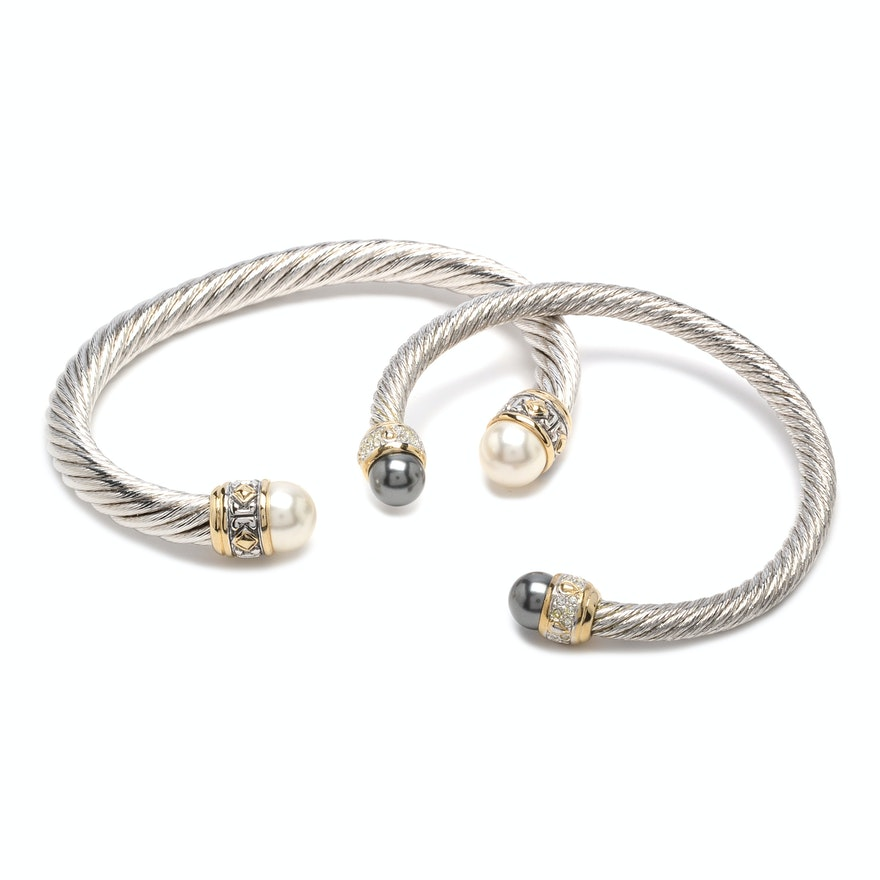 John Medeiros Twisted Wire Cuff Bracelets : EBTH
