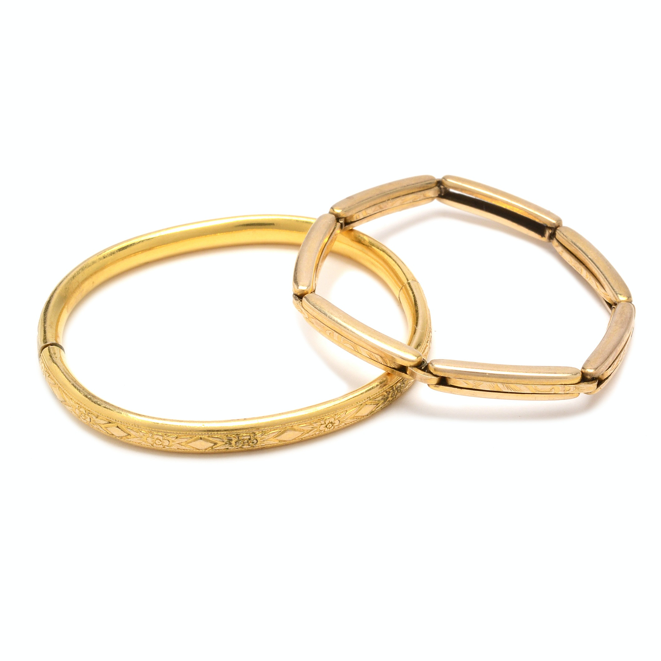 Victorian Gold Plated Baby Bracelets