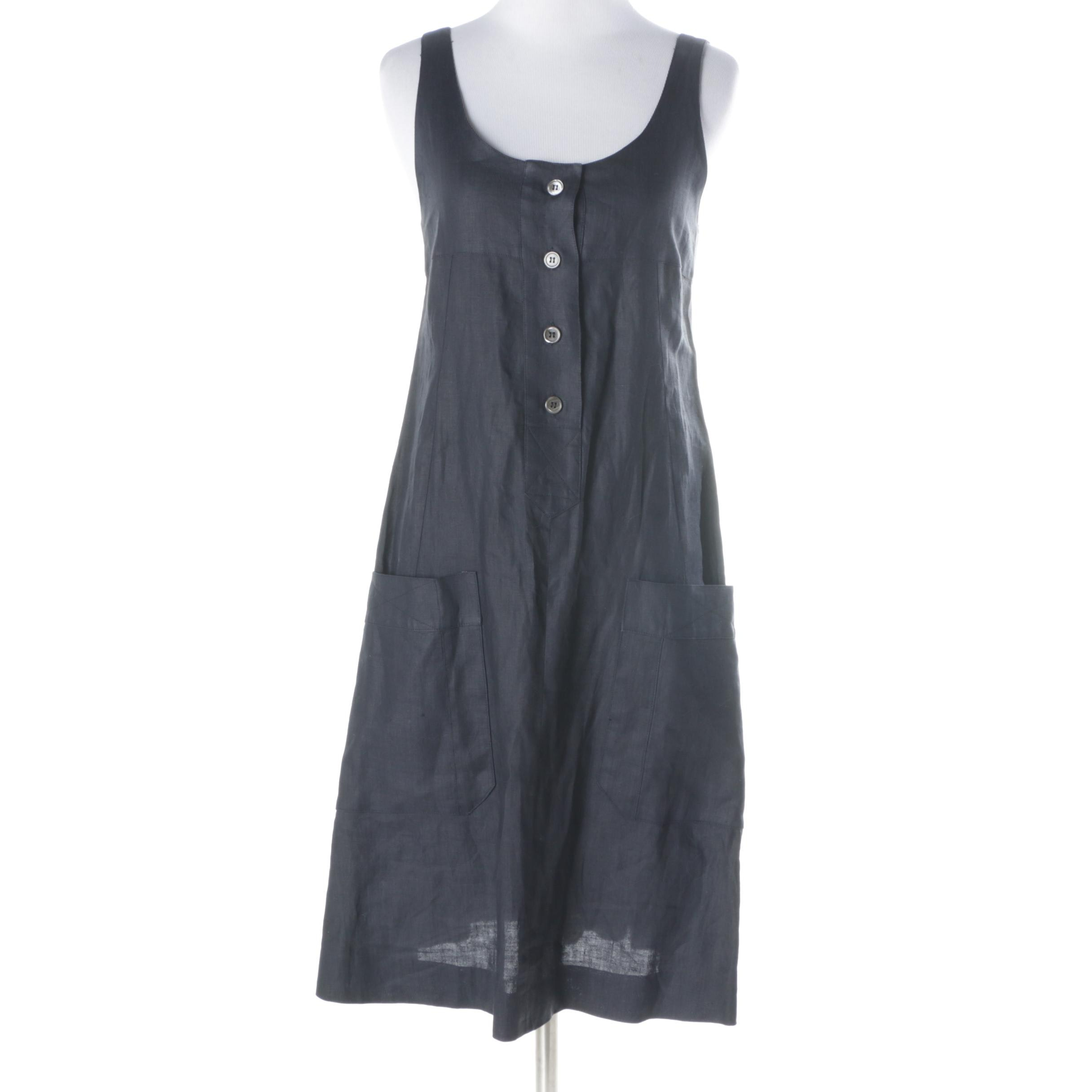 Vintage Karl Lagerfeld Sleeveless Linen Dress