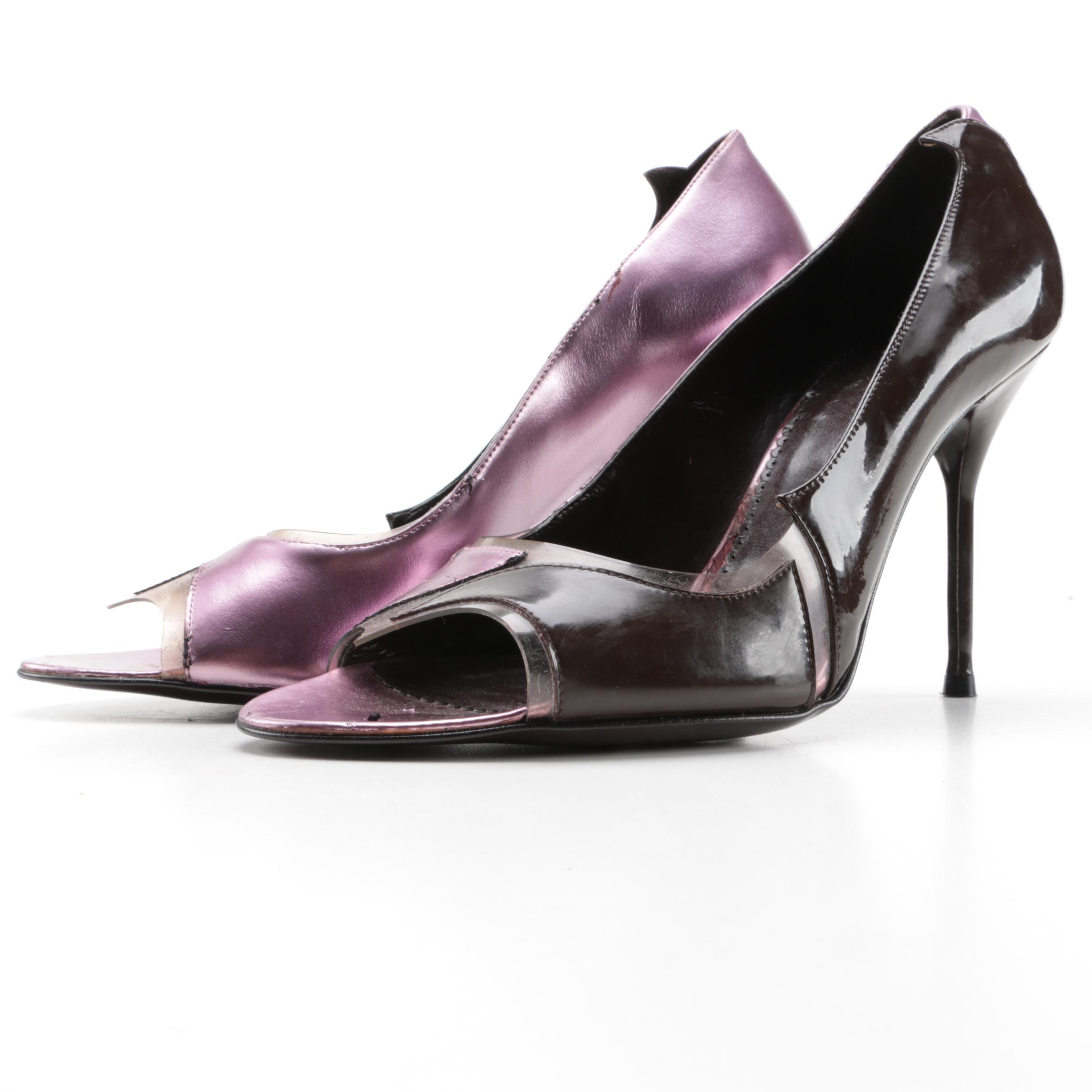 Stella McCartney Peep Toe Stiletto Heels