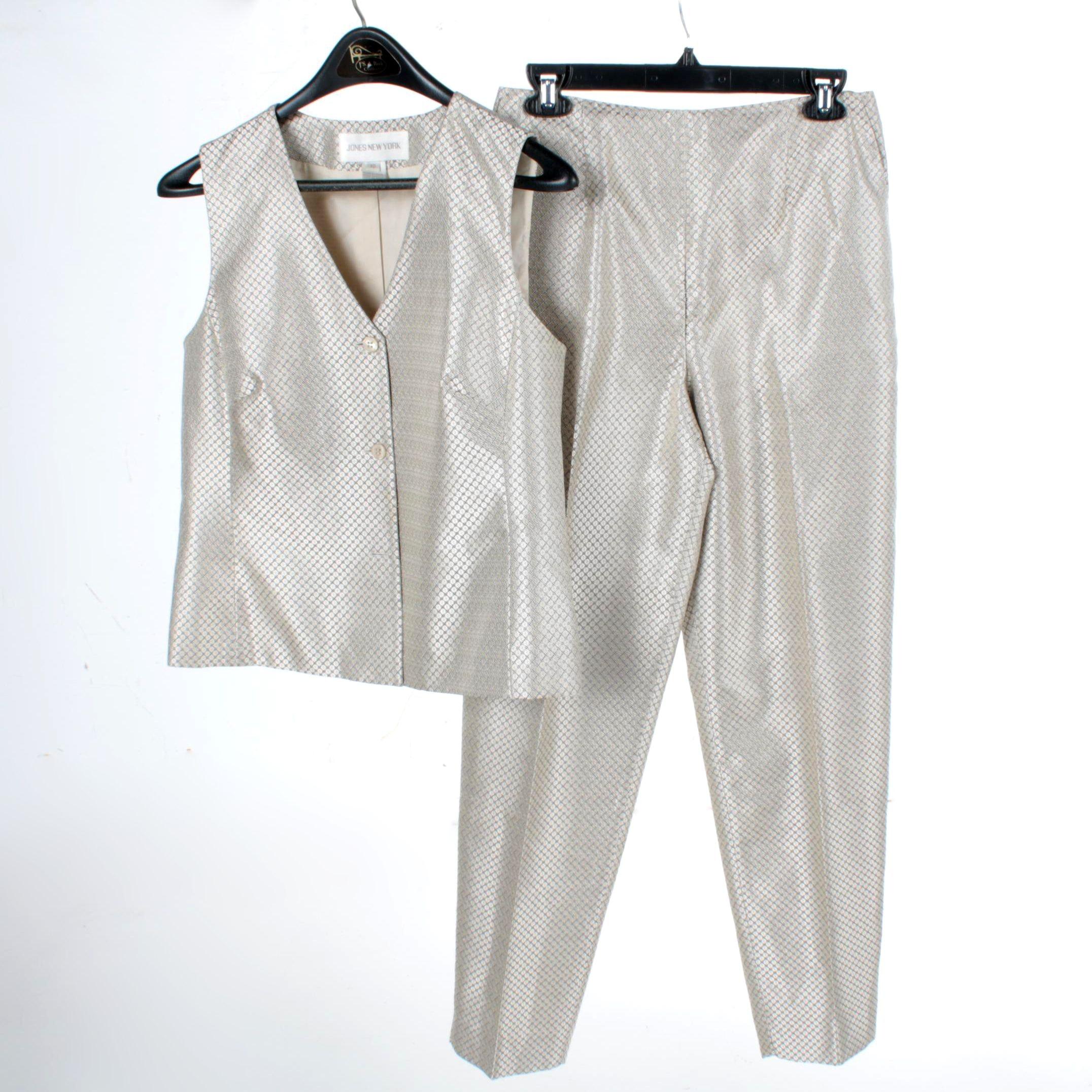 Women's Jones New York Vest and Pant Set