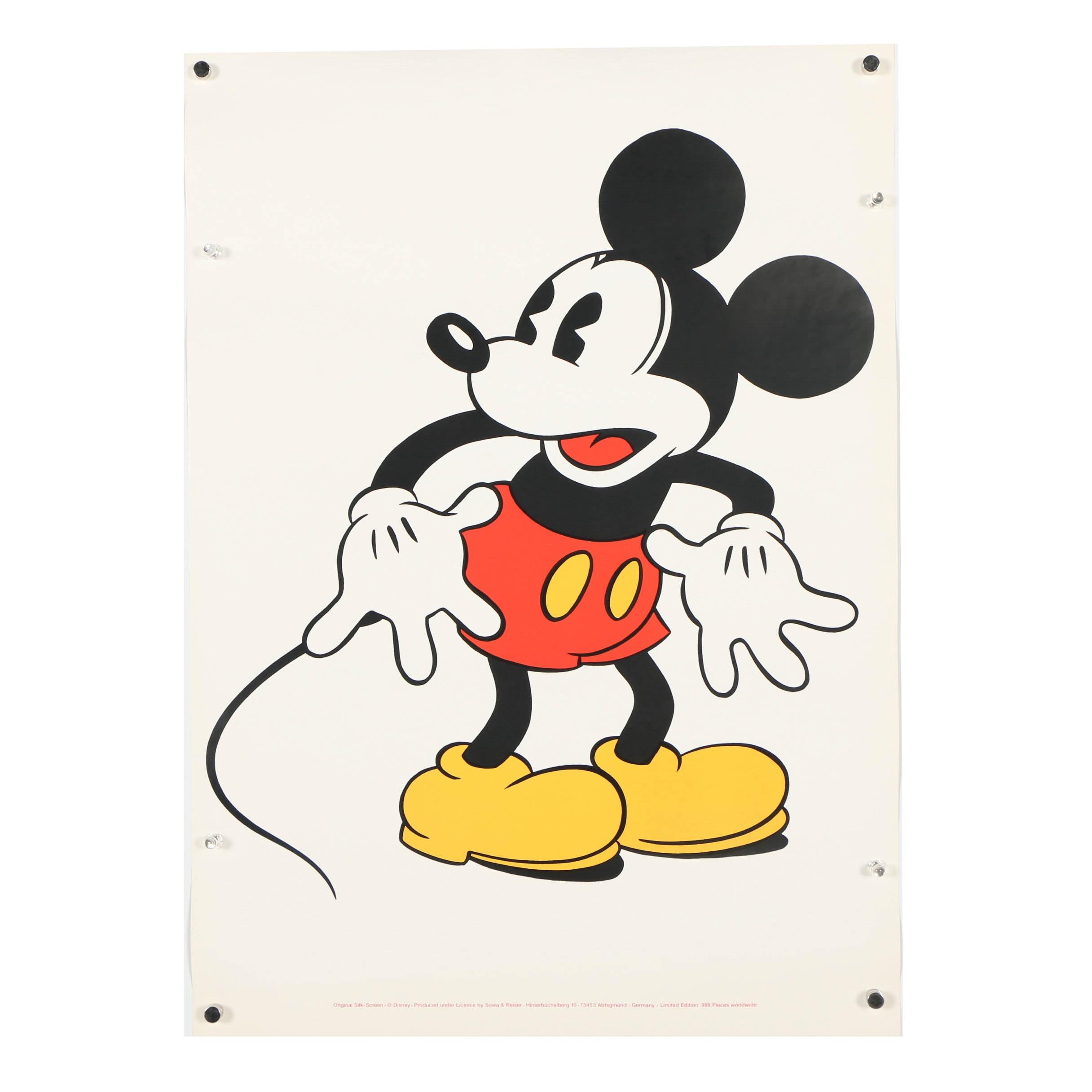 "Sowa & Reiser Serigraph ""Mickey Mouse"""