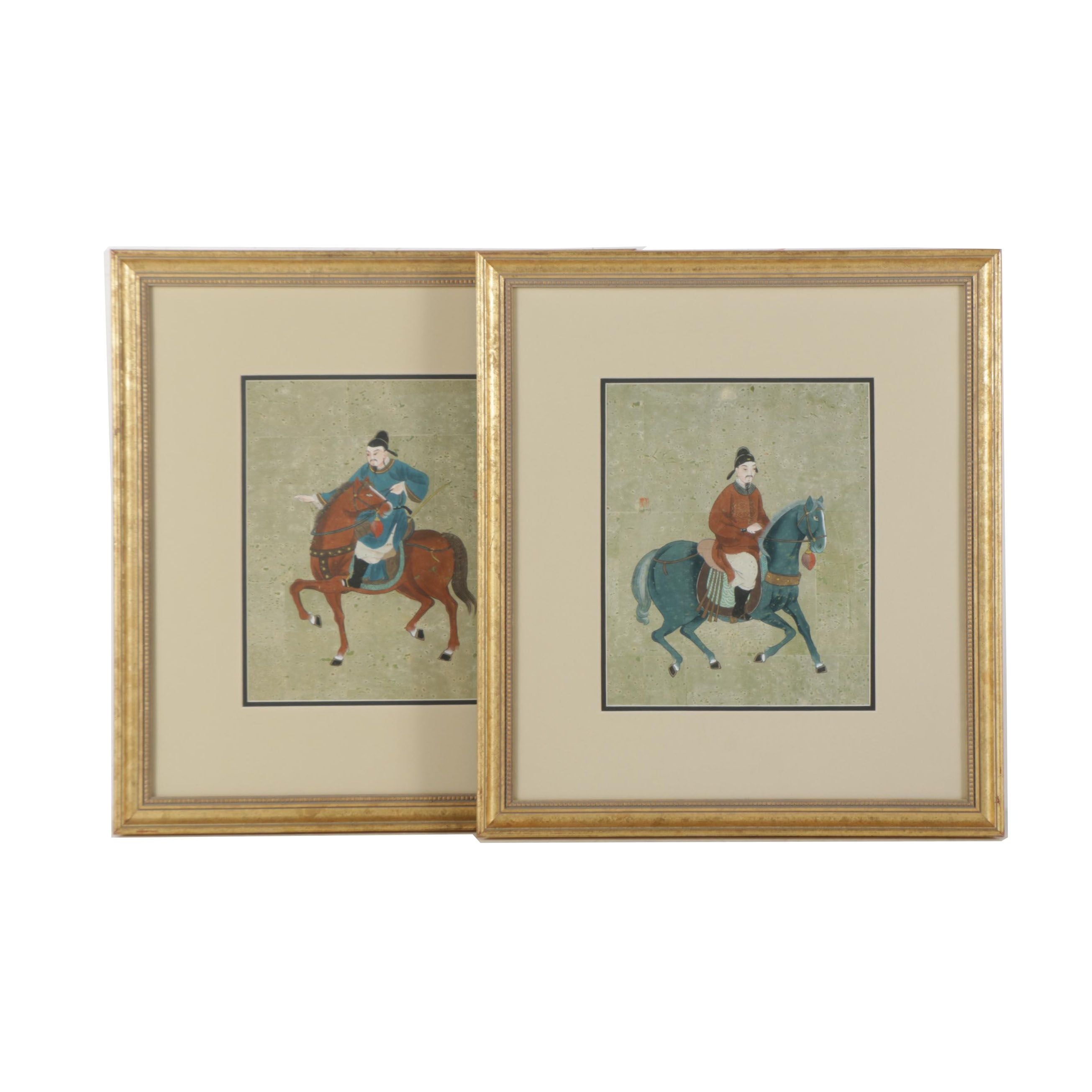 Serigraphs After Chinese Gouache Paintings