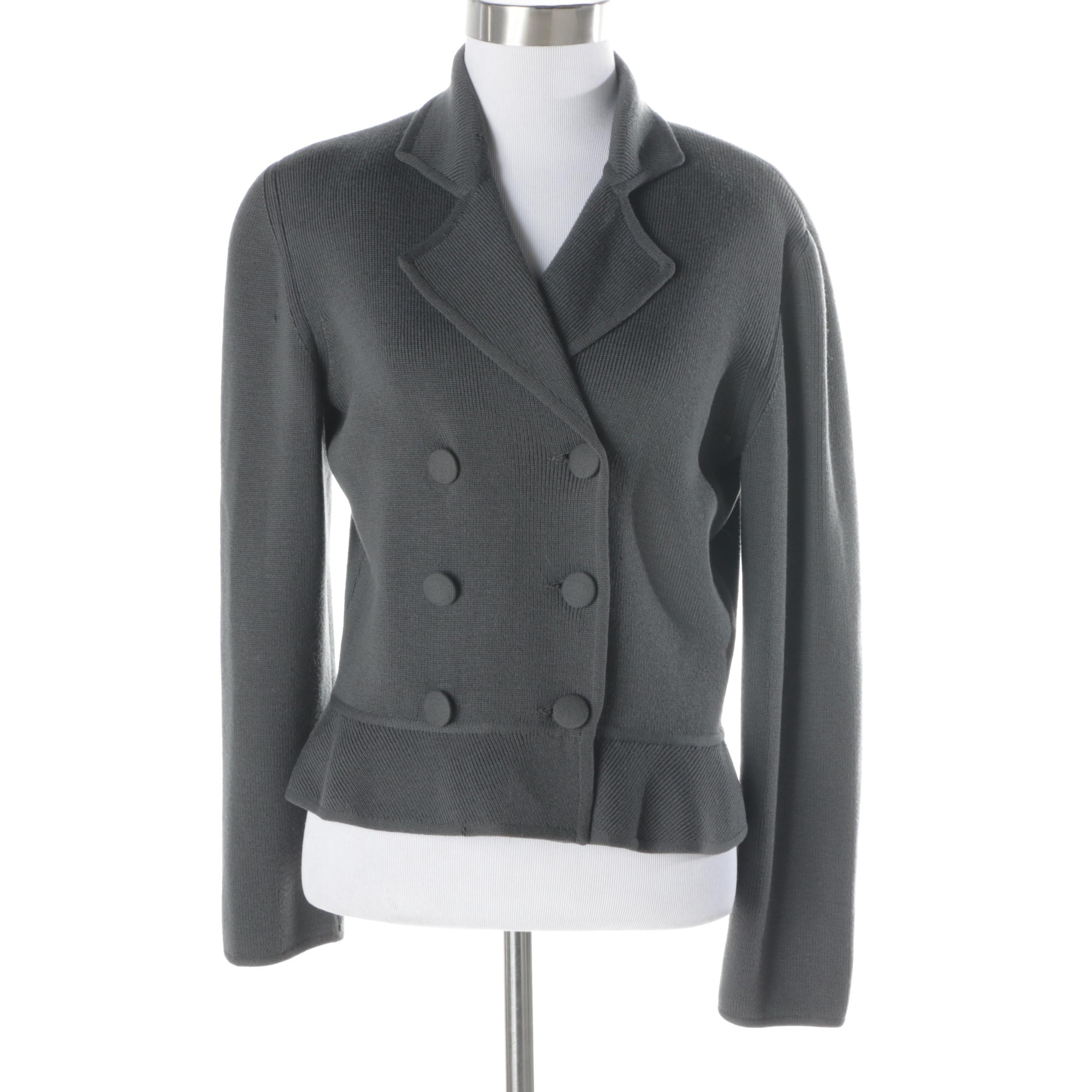 Women S Giorgio Armani Grey Wool Suit Jacket Ebth