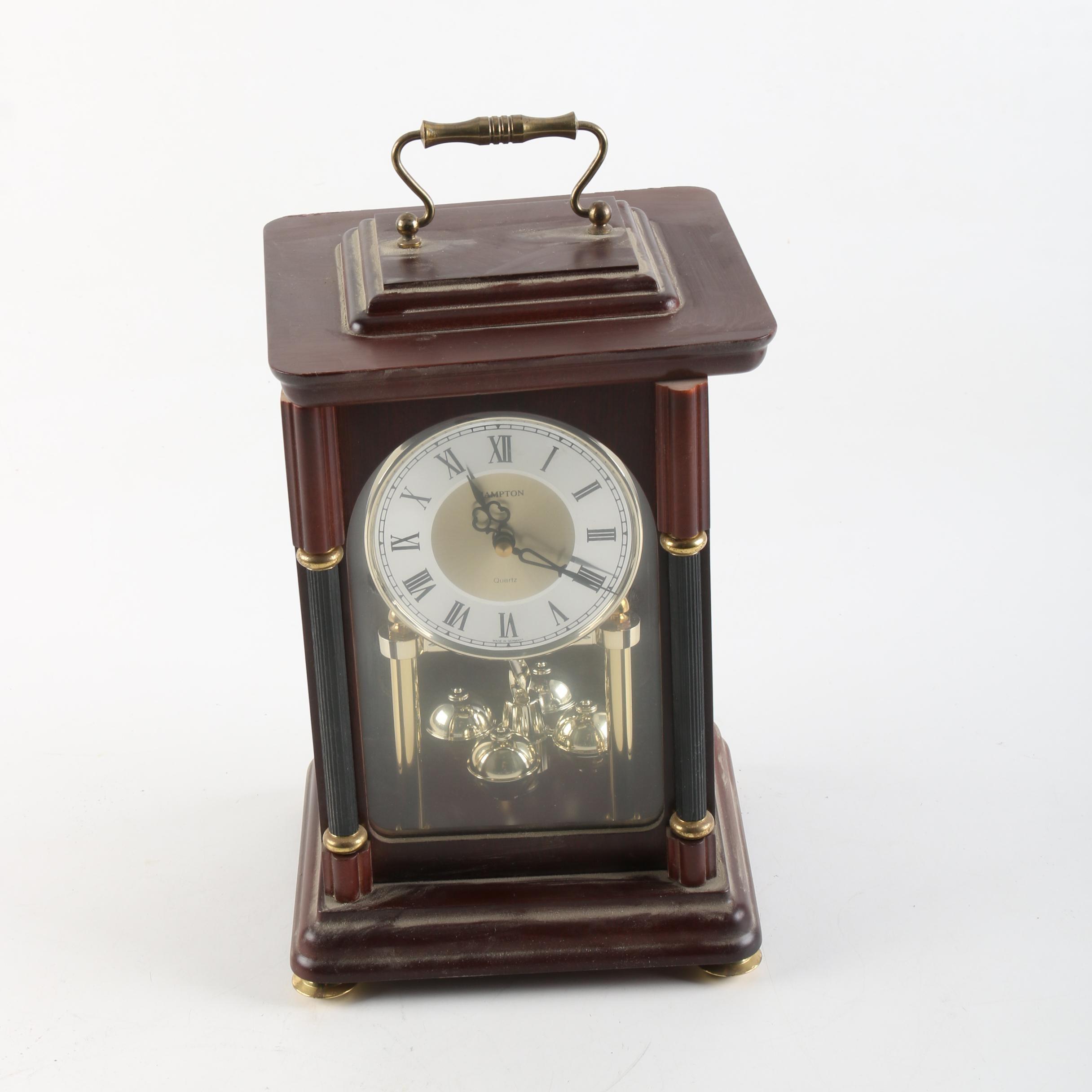 Hampton Wood Cased Mantel Clock