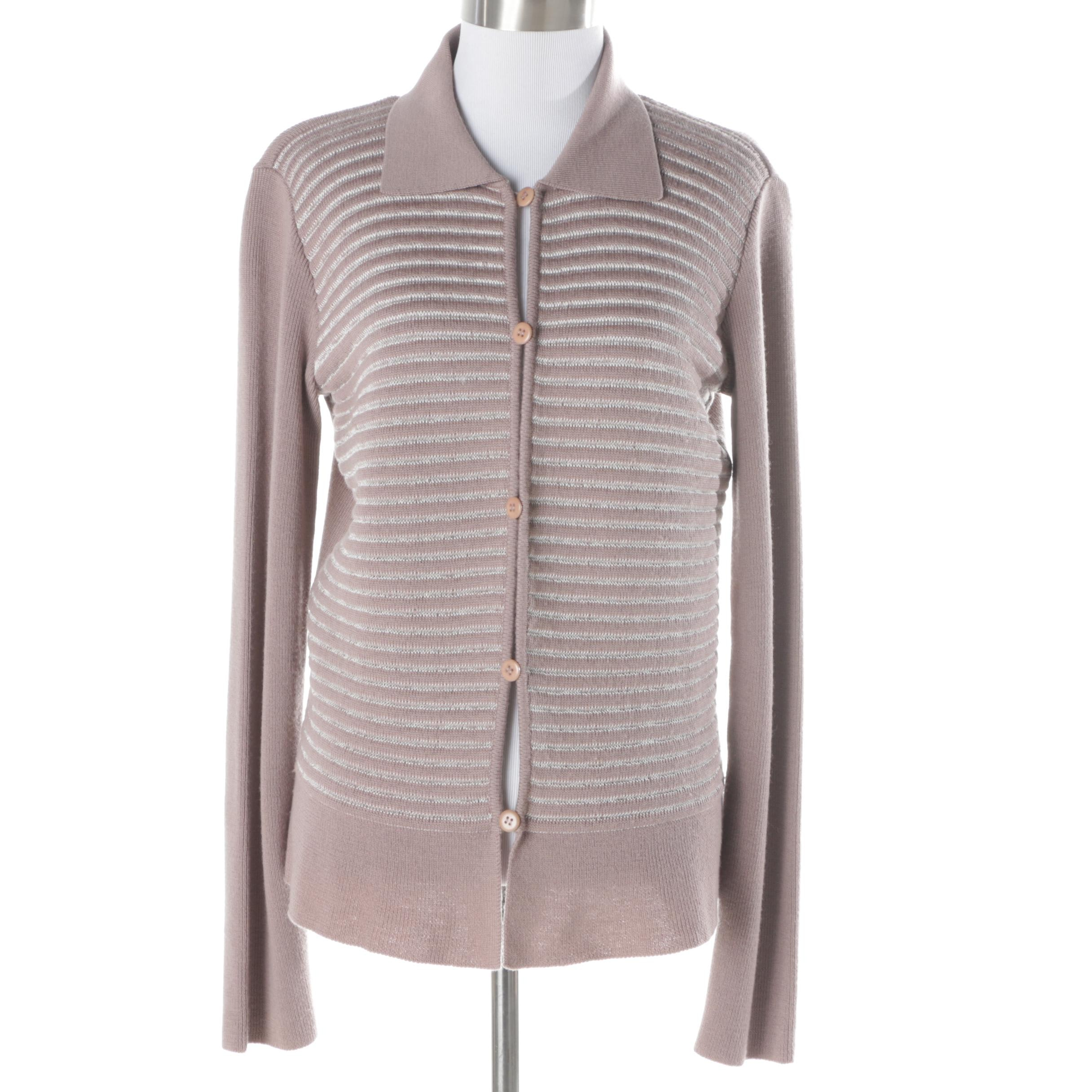 Women's Armani Collezioni Wool Blend Button-Front Sweater