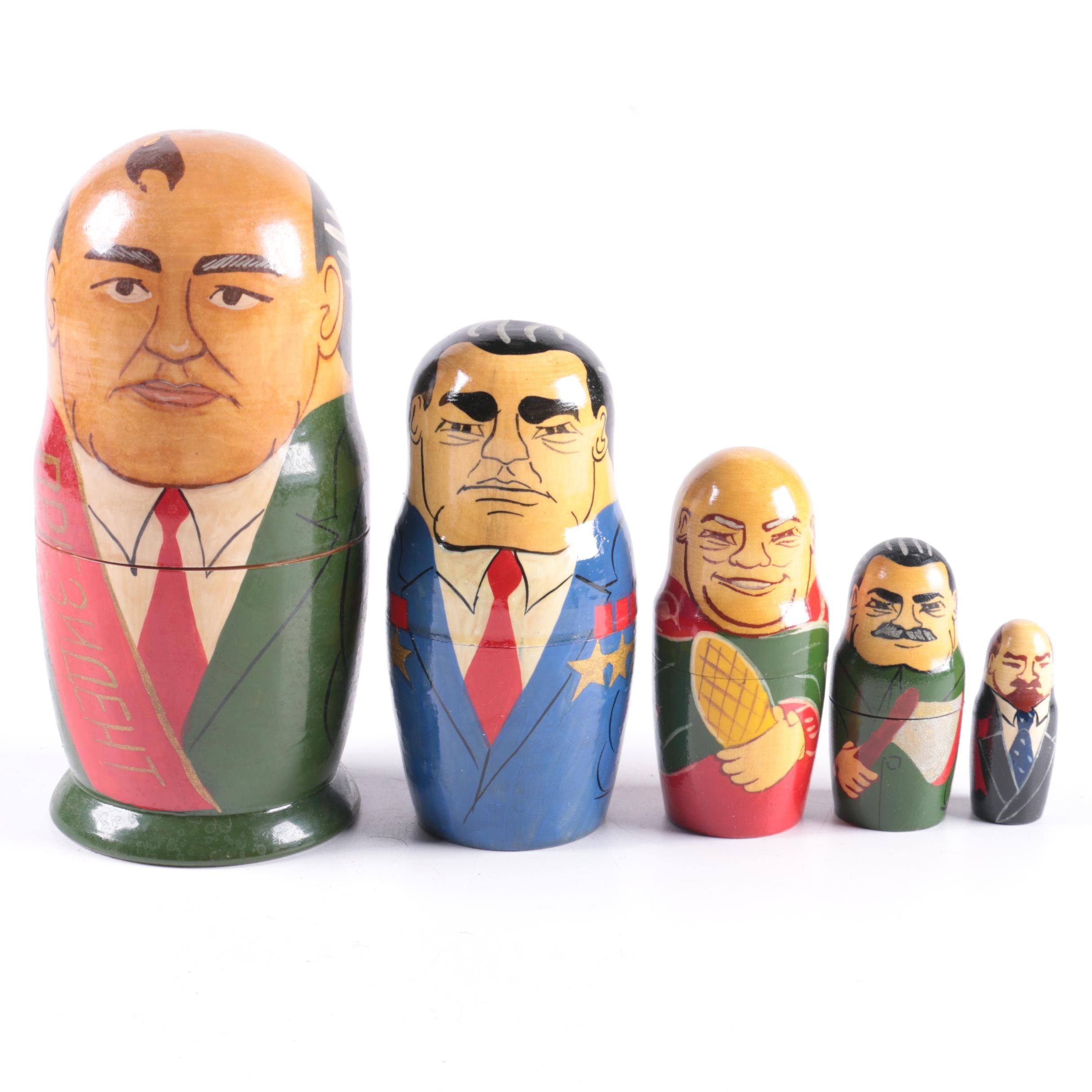 Matryoshka Nesting Doll of Russian Politicians