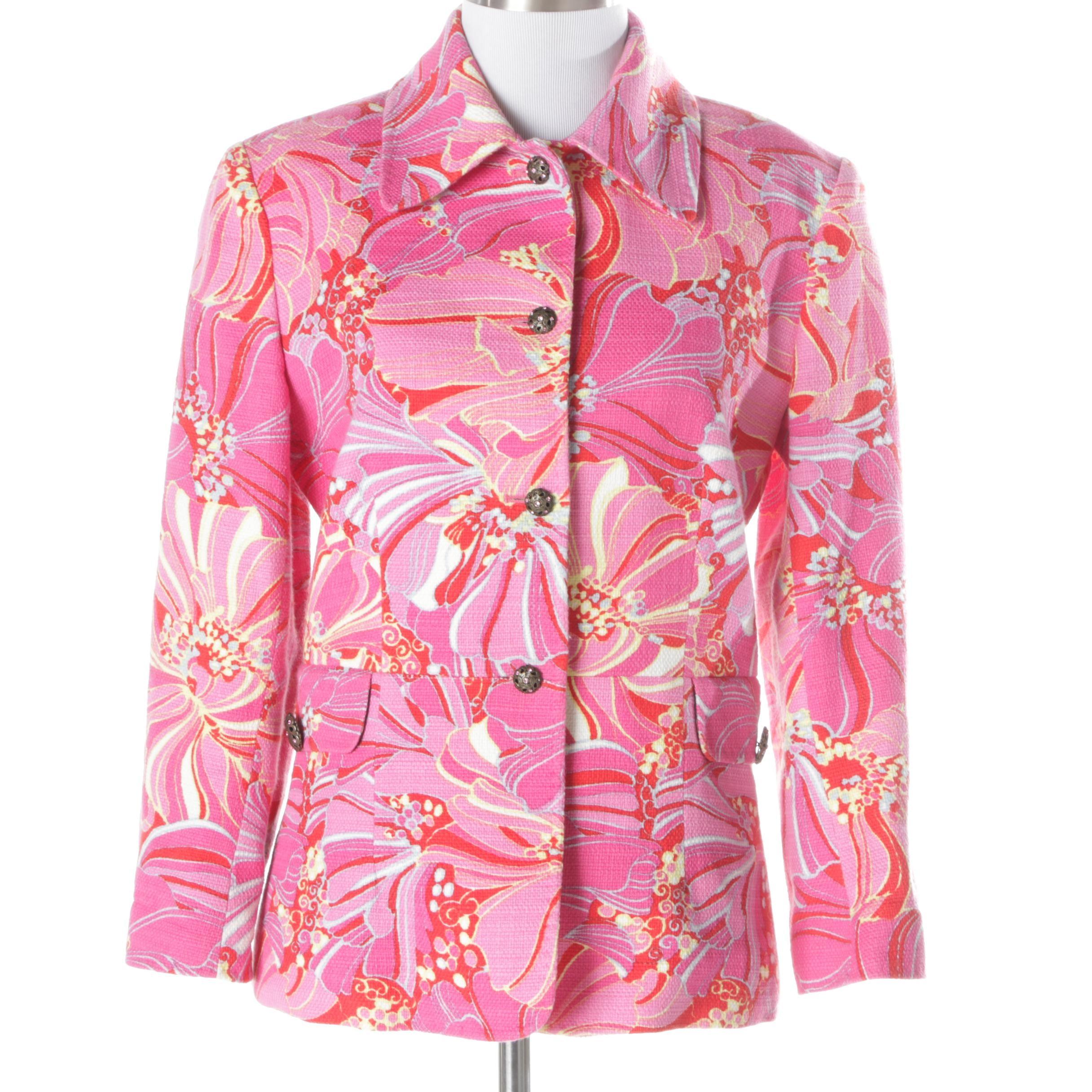 Women's Dolce & Gabbana Cotton Blend Floral Jacket