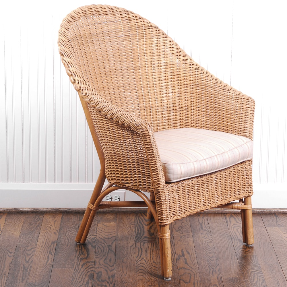 Wicker Chair by Palecek ...  sc 1 st  EBTH.com : palecek wicker chair - Cheerinfomania.Com
