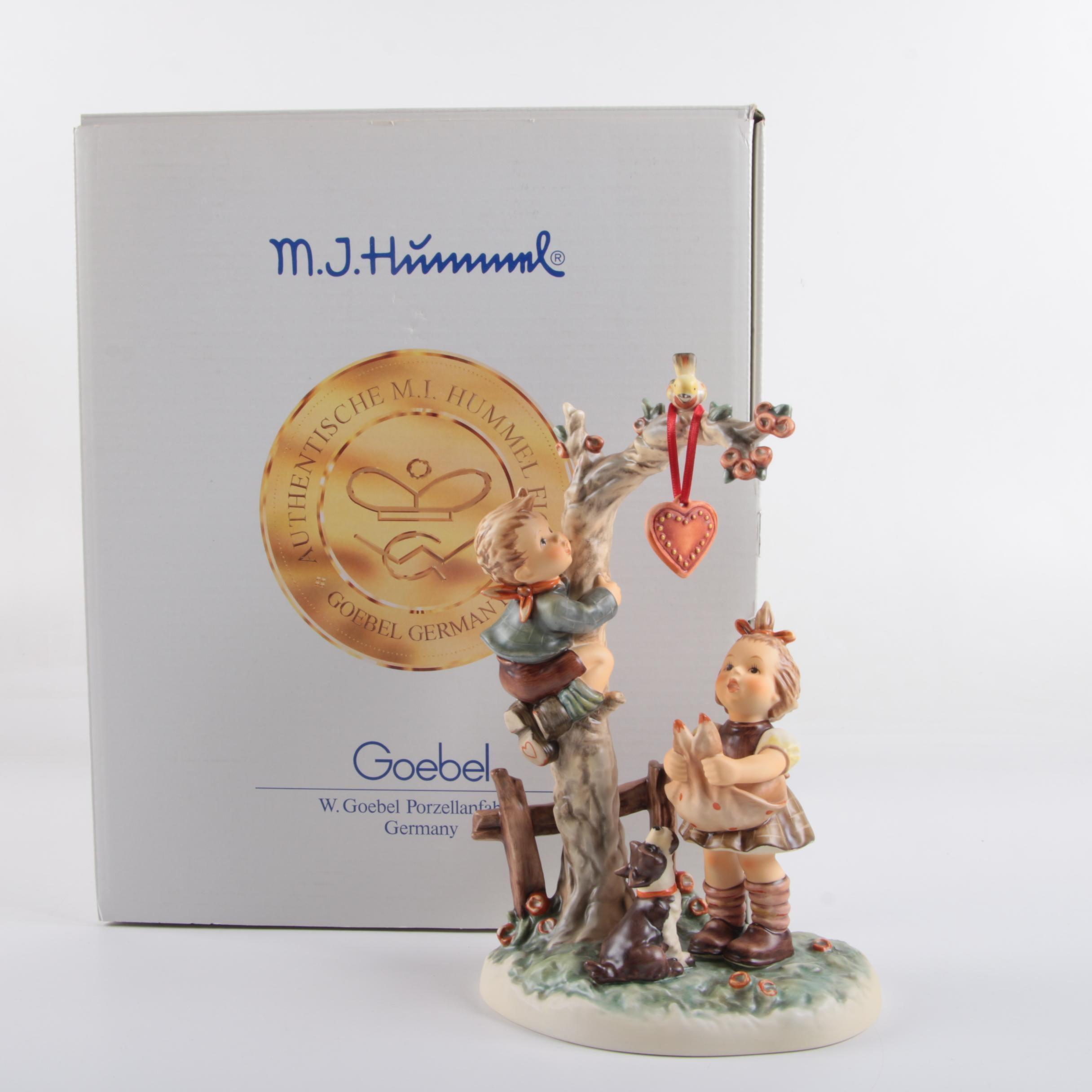 "Hummel Figurine ""Here's My Heart"""