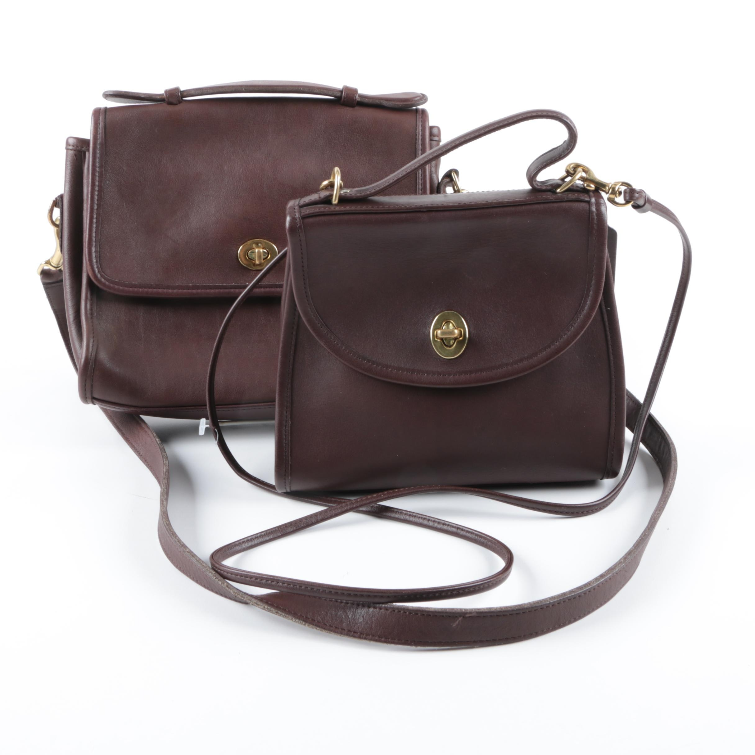Coach Regina and Court Brown Leather Handbags