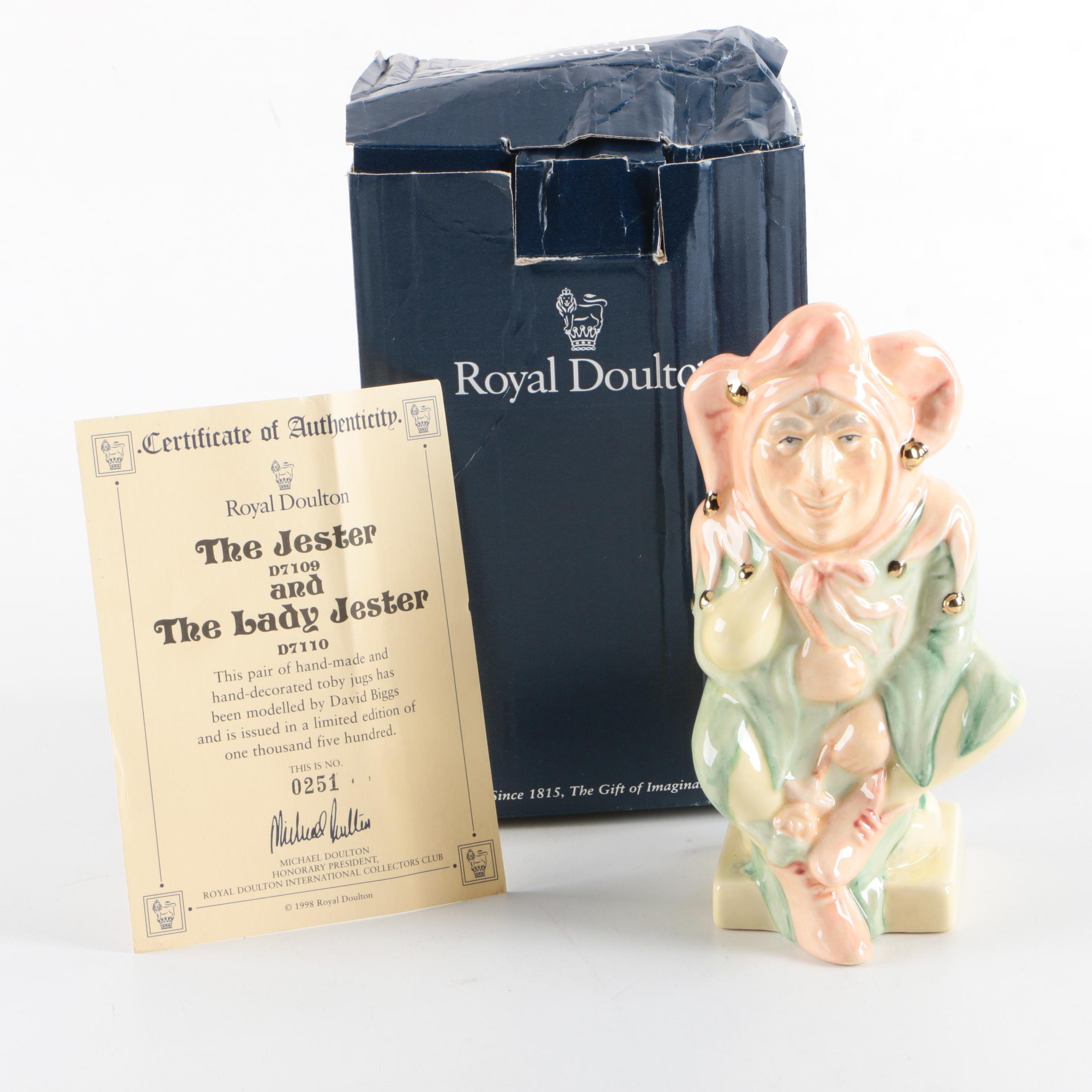 """Royal Doulton """"The Jester"""" Character Toby Jug"""