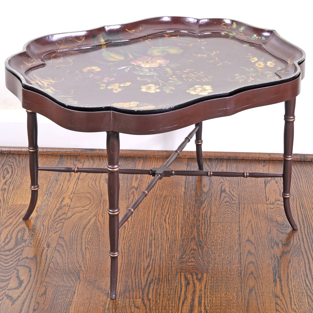 Painted Tole Tray Table