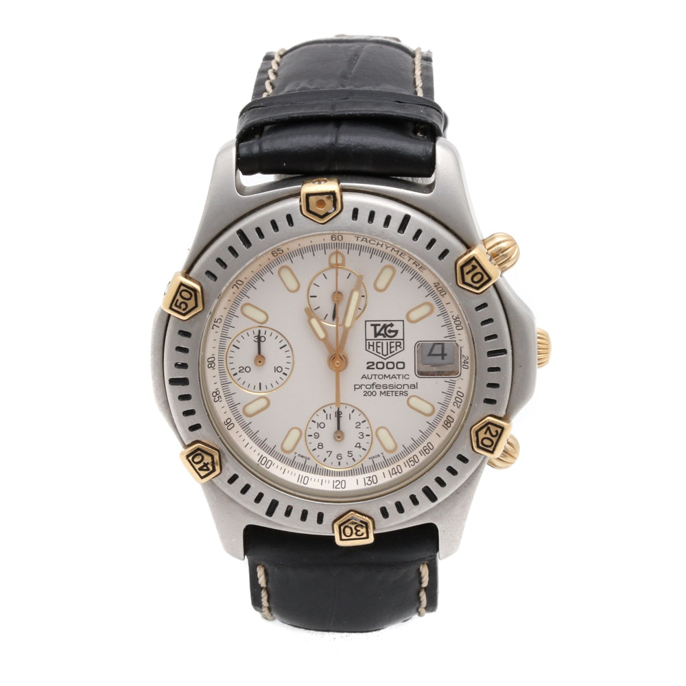 TAG Heuer Stainless Steel Automatic Chronograph Wristwatch