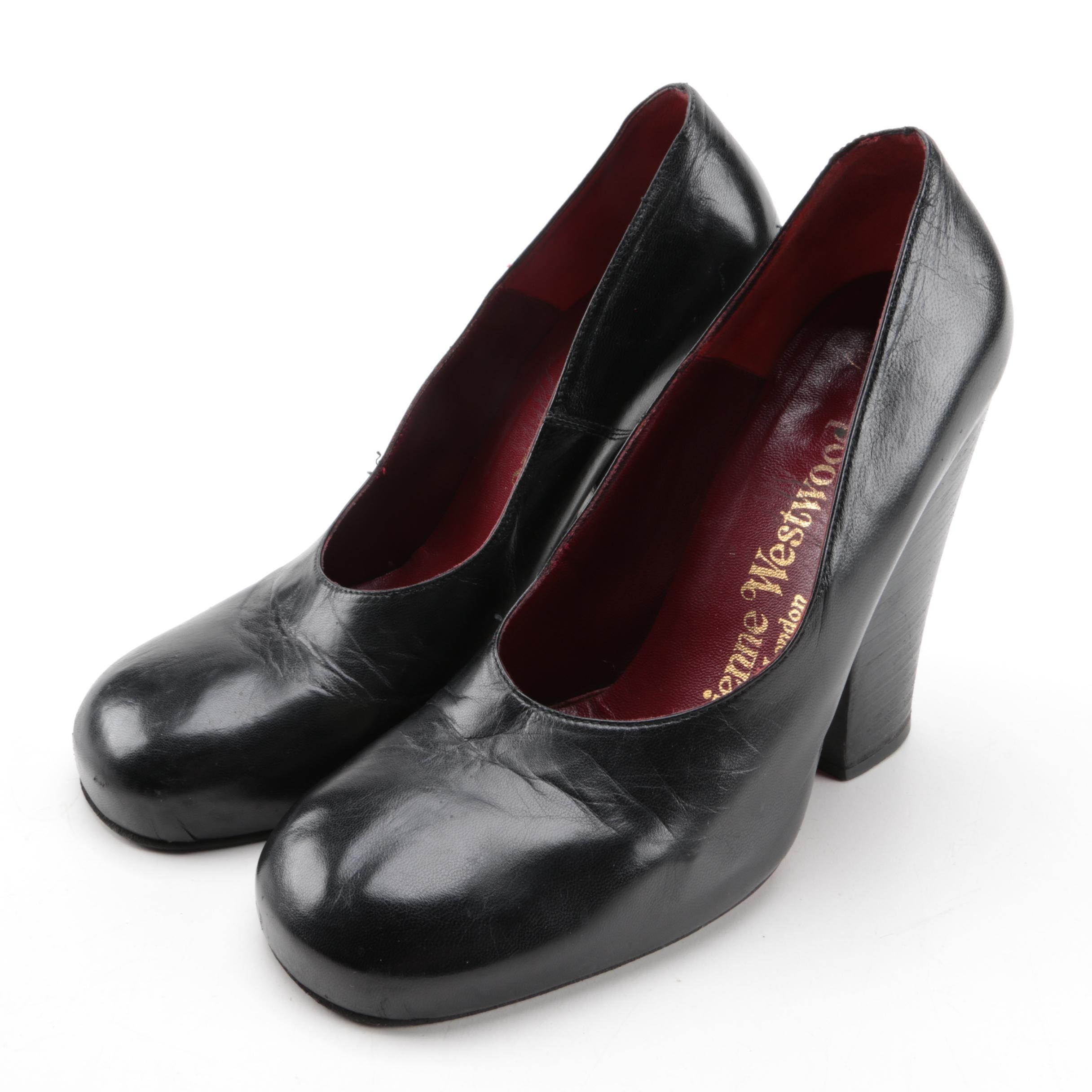 Vintage Vivienne Westwood Black Leather Heels