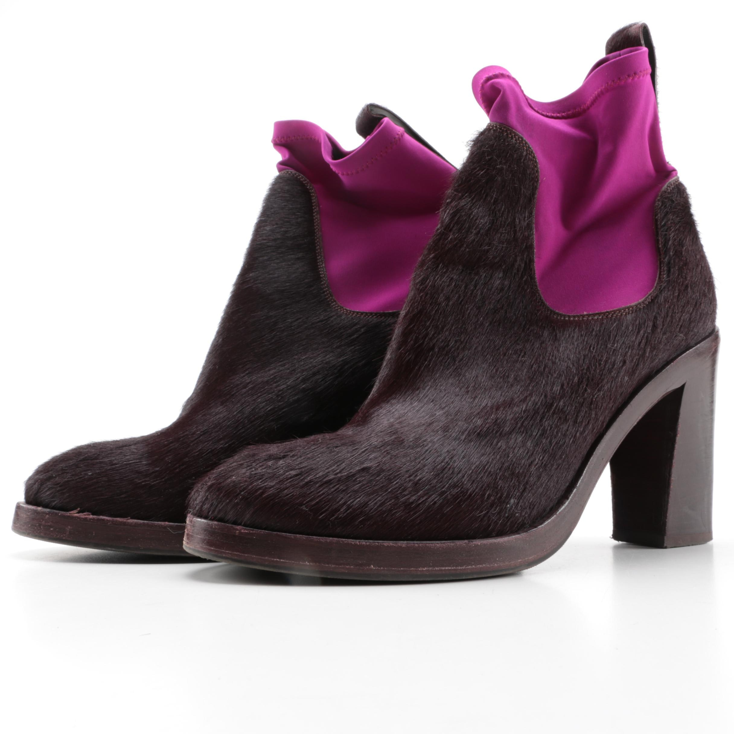 Acne Pony Hair Booties