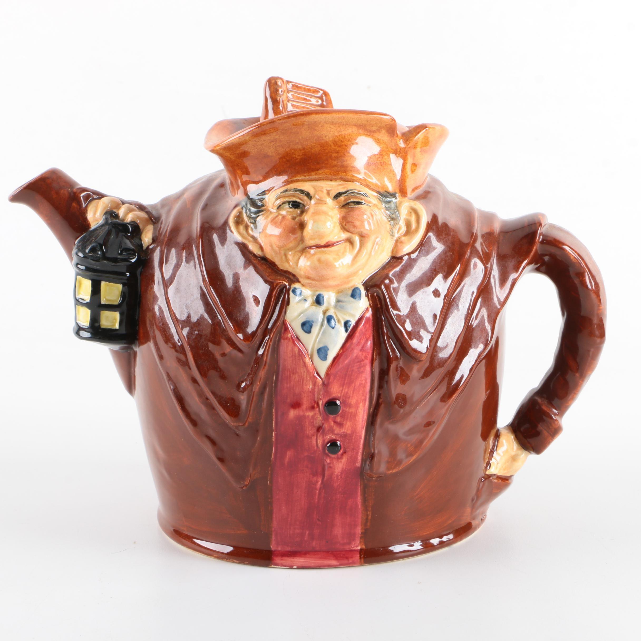 """Royal Doulton """"Old Charley"""" Character Teapot, Circa 1939-1940"""