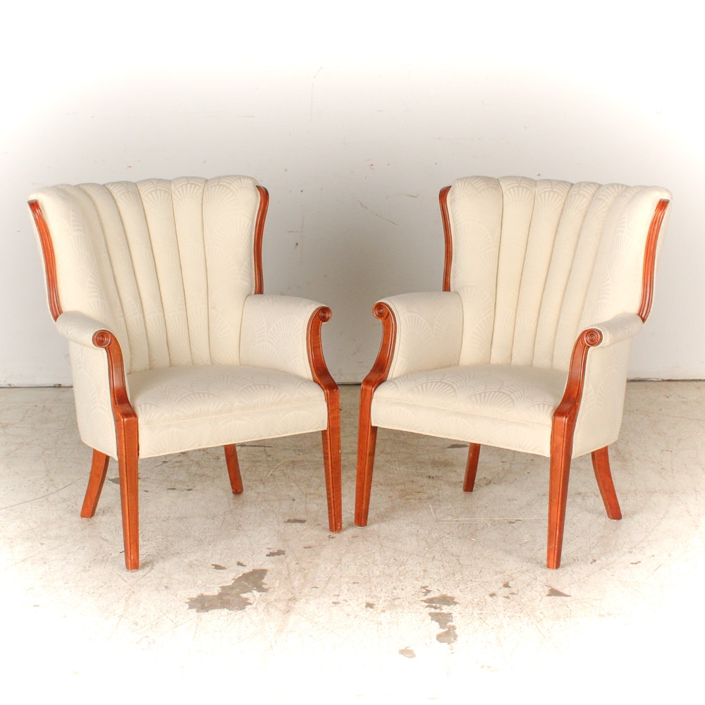 Hollywood Regency Style Scallop Armchairs