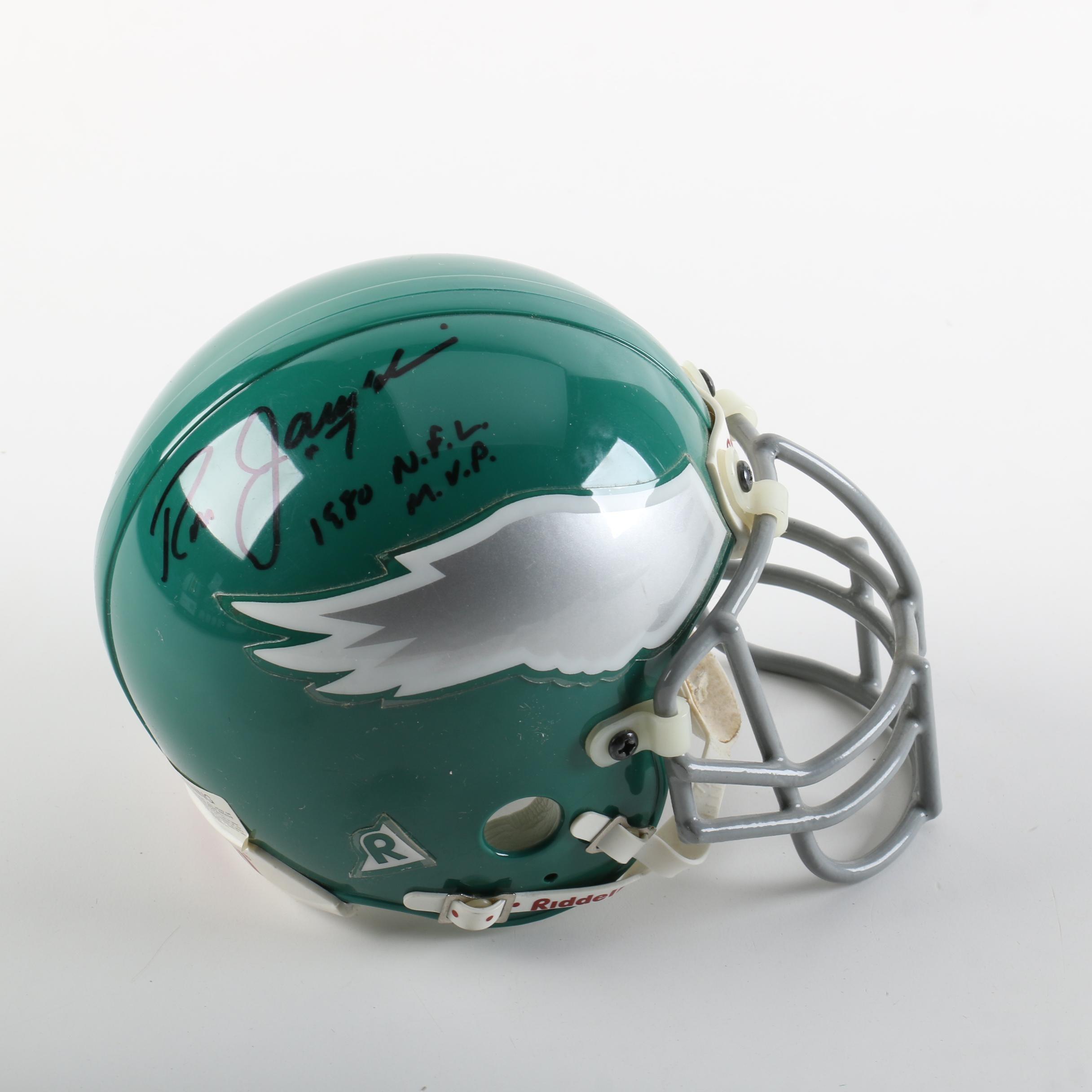Ron Jaworski Autographed Eagles Riddell Throwback Mini Helmet
