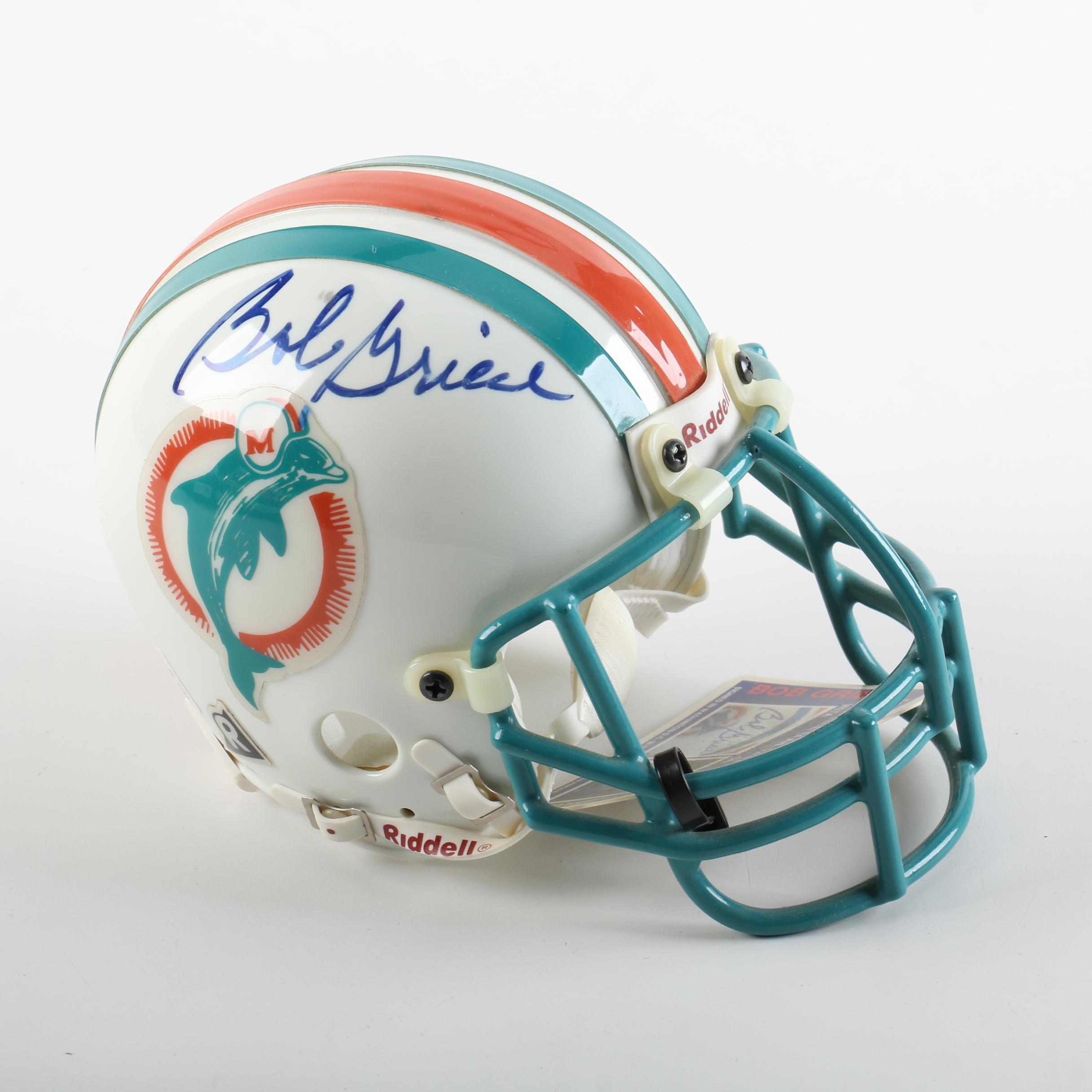 Bob Griese Autographed Mini-Helmet