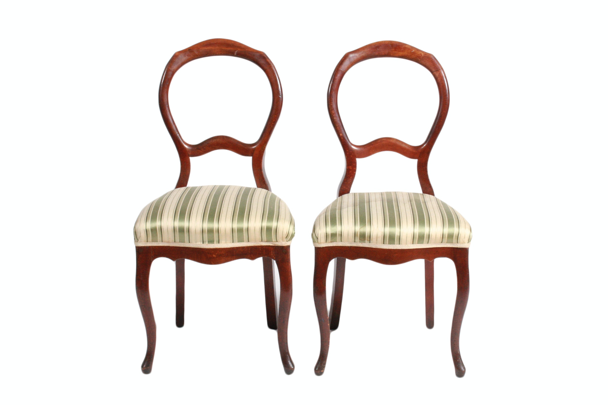 Pair of Swedish Balloon-Back Side Chairs