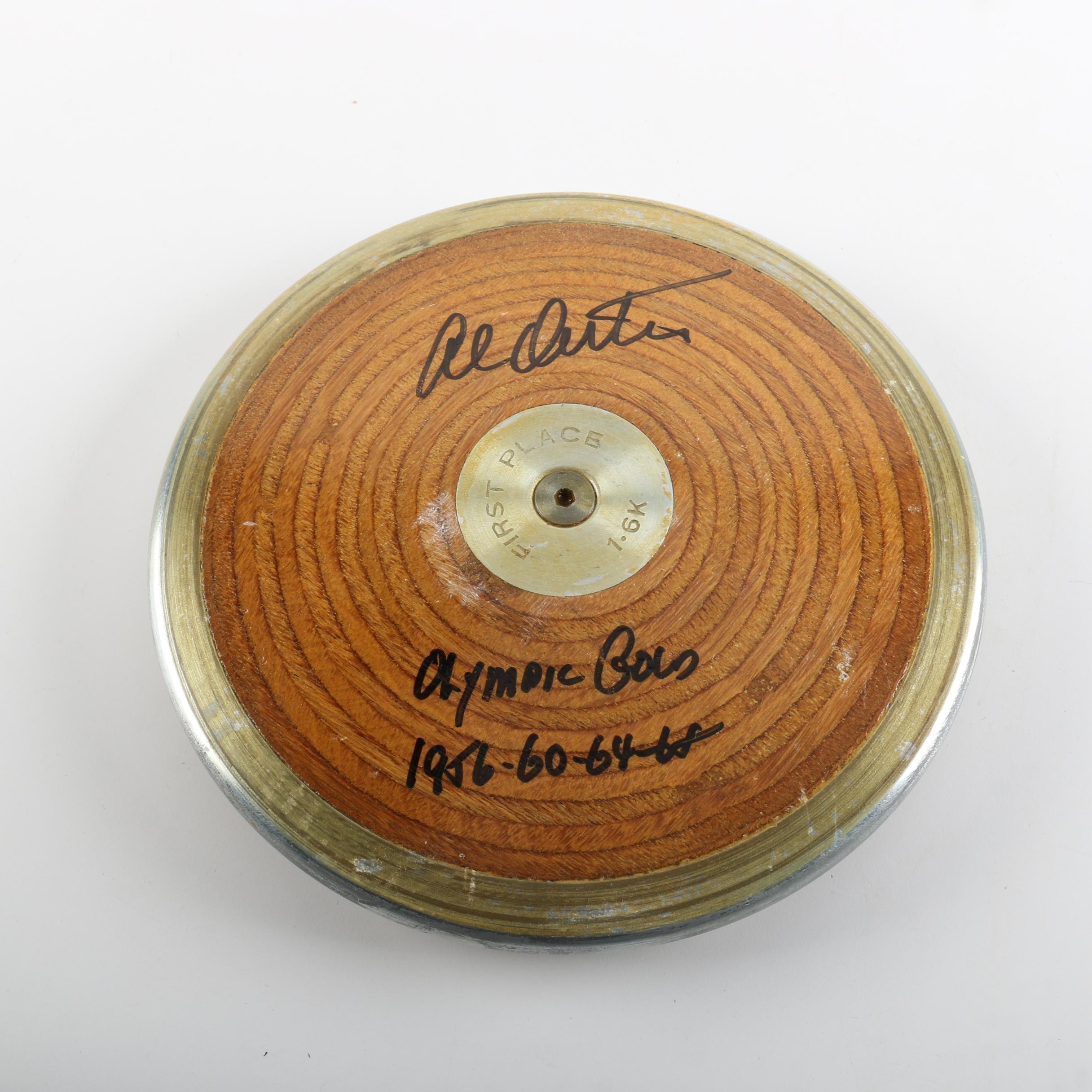 Al Oerter Autographed Discus