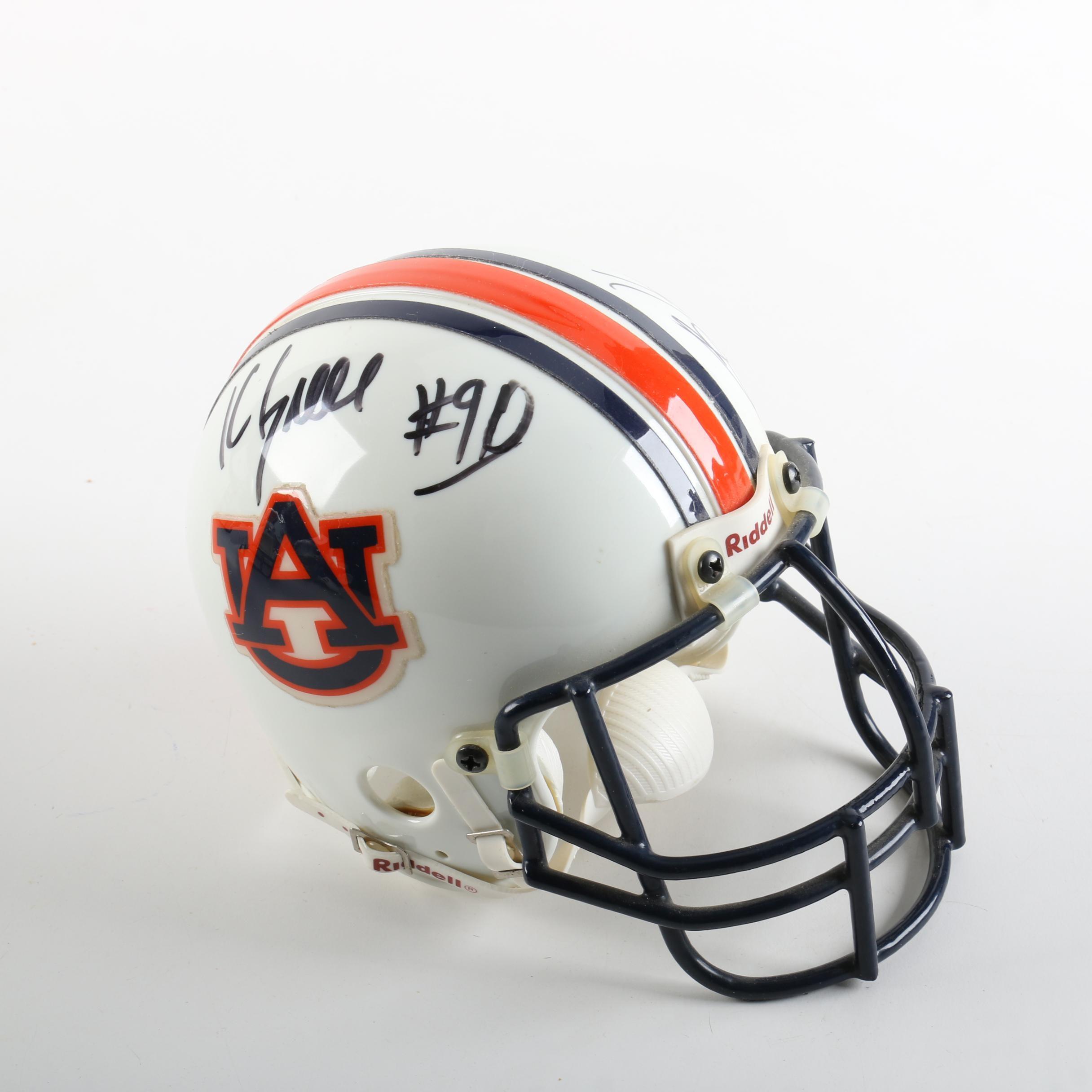 Kevin Greene, Bo Jackson, and Pat Washington Autographed Miniature Helmet