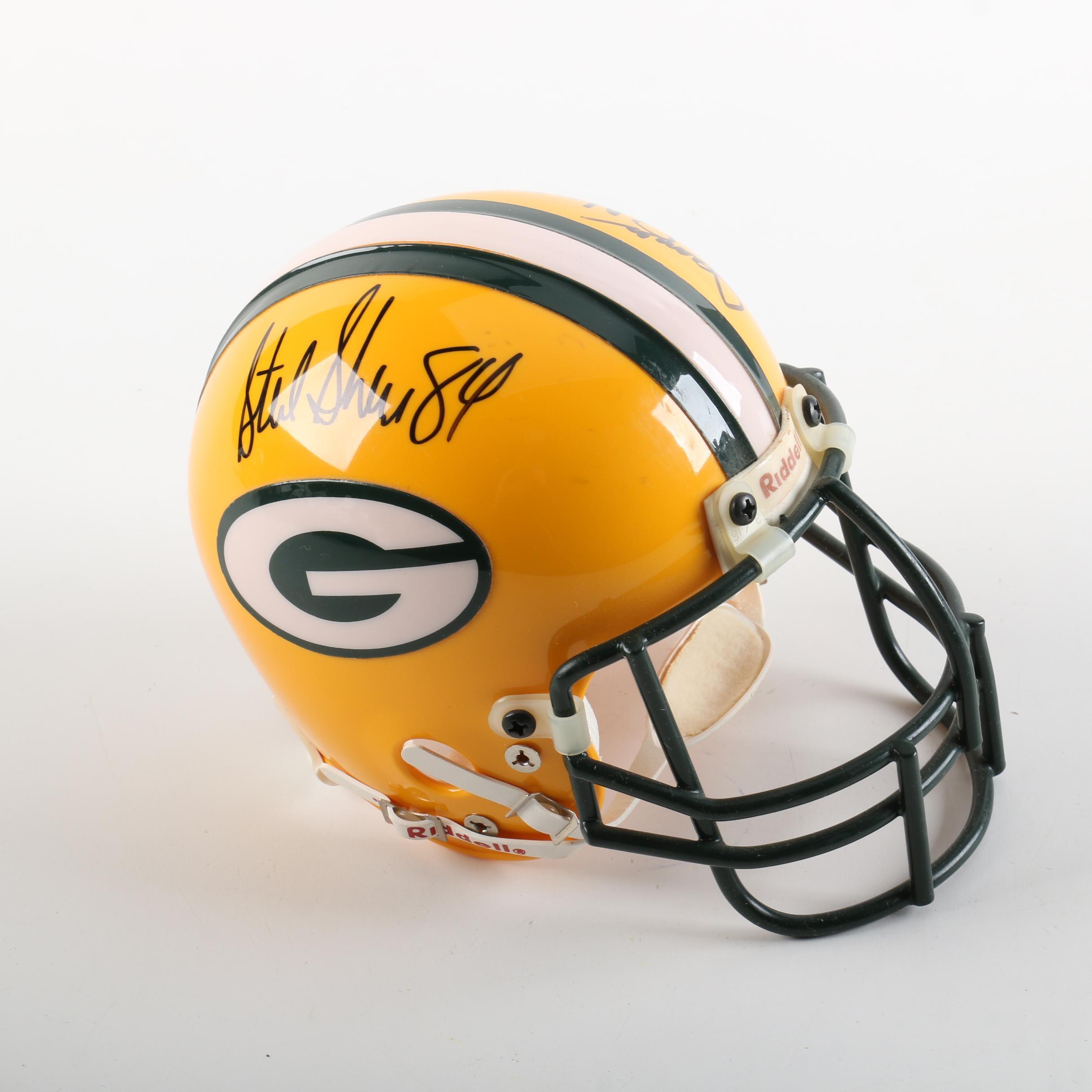 Green Bay Packers Autographed Miniature Helmet