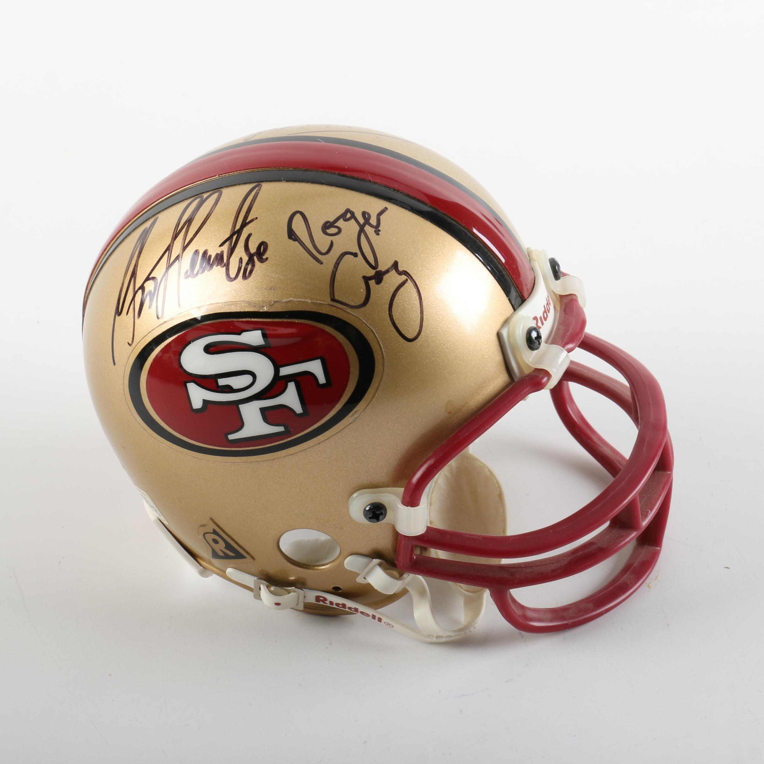 San Francisco 49ers Autographed Mini Helmet