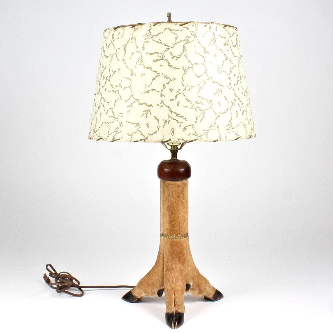 Three Legged Deer Table Lamp