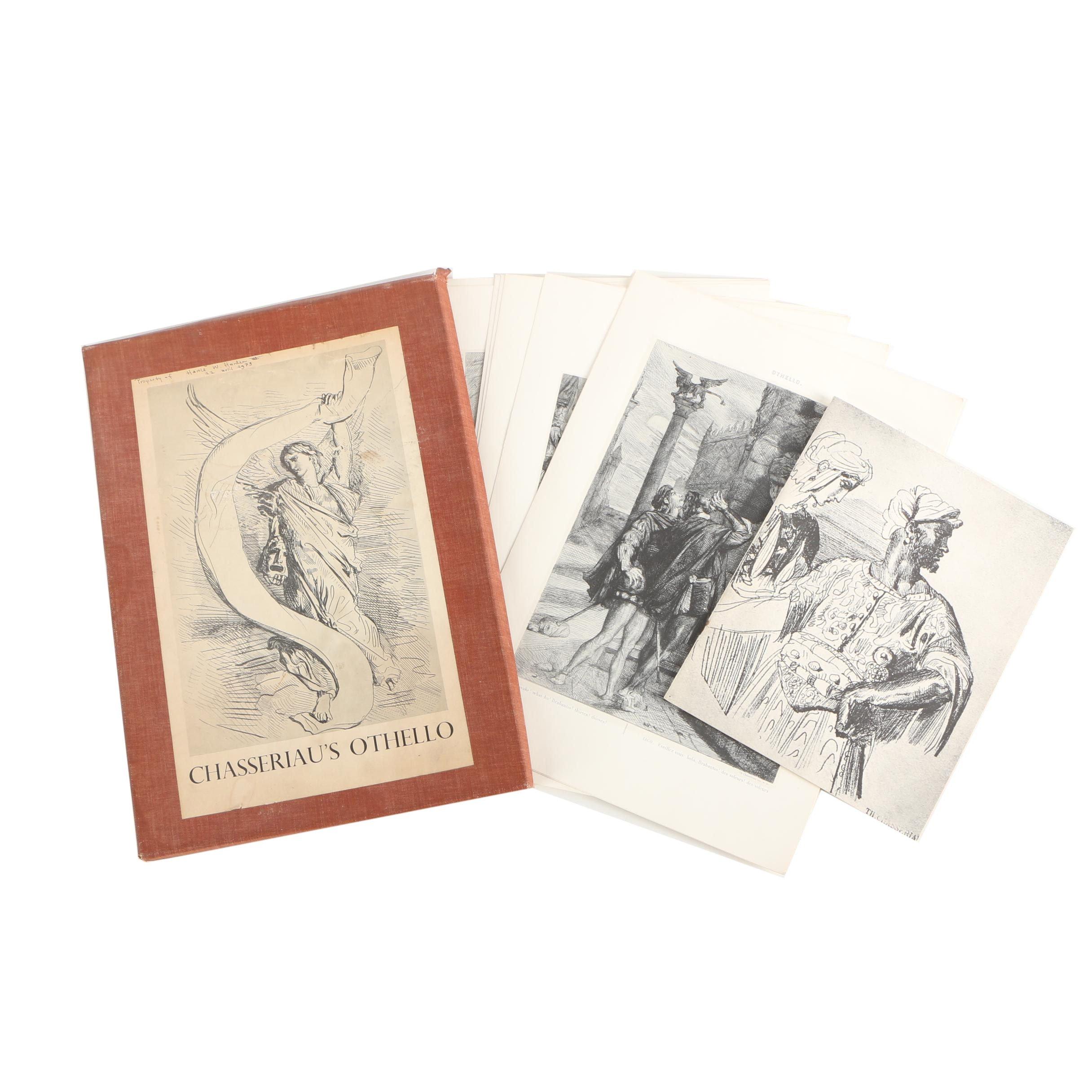 "Portfolio of Halftone Prints After Theodore Chasseriau's ""Othello"""