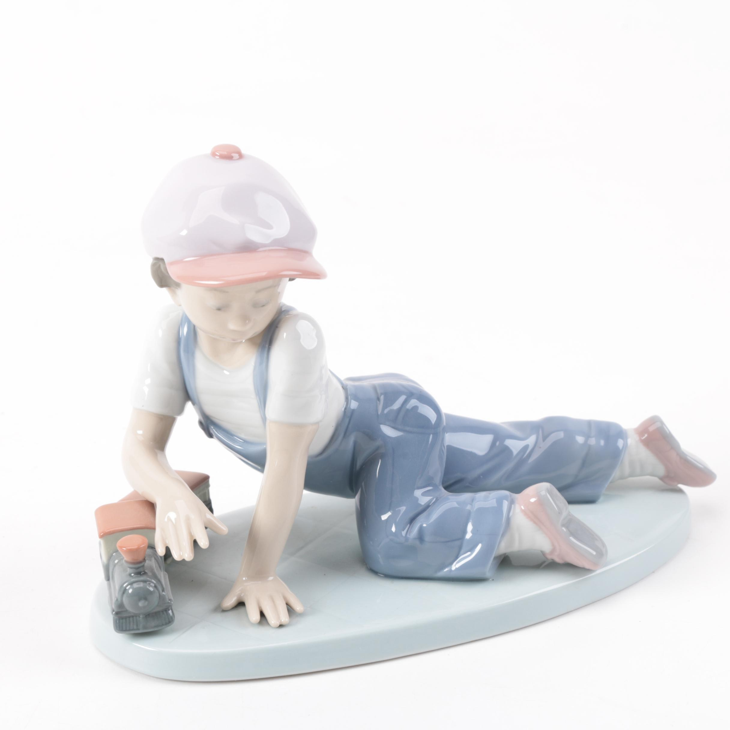 """Lladró """"All Aboard"""" Porcelain Collectors Society Figurine"""