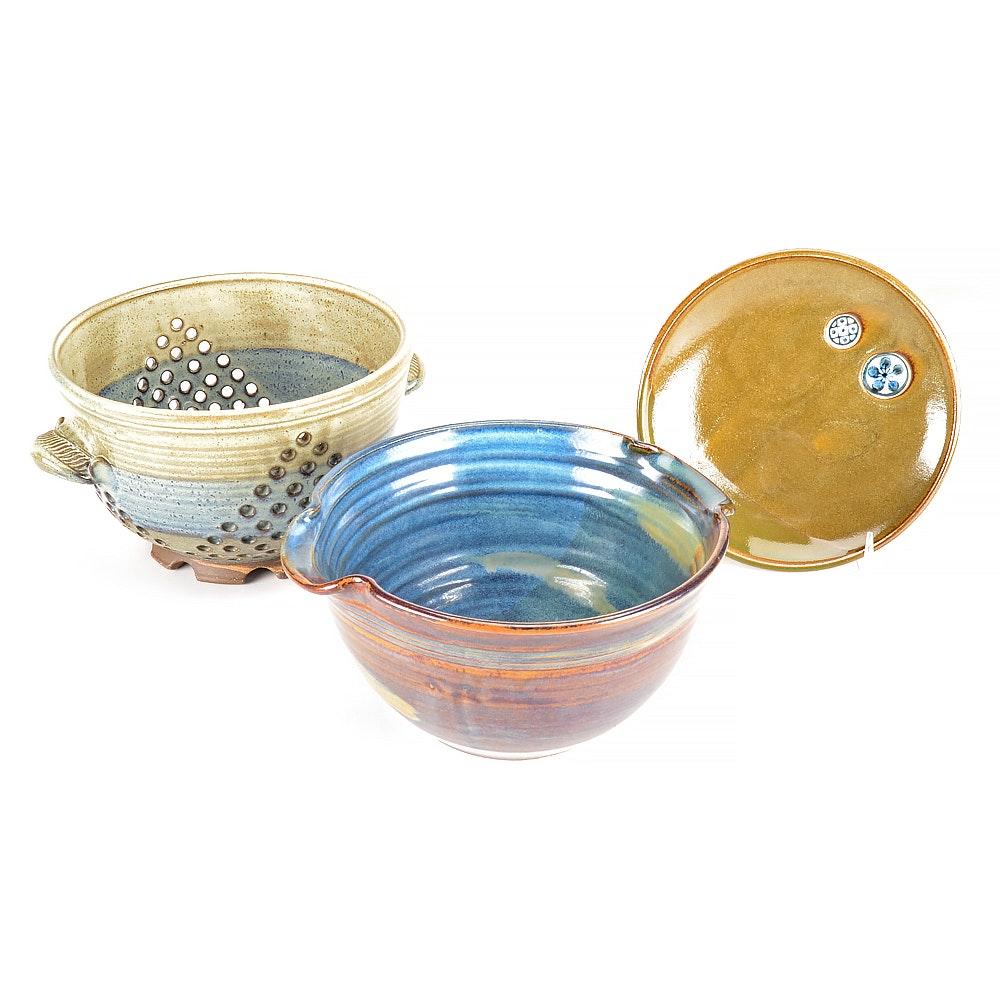 Assortment of Hand-Thrown Pottery Including Jon Graham