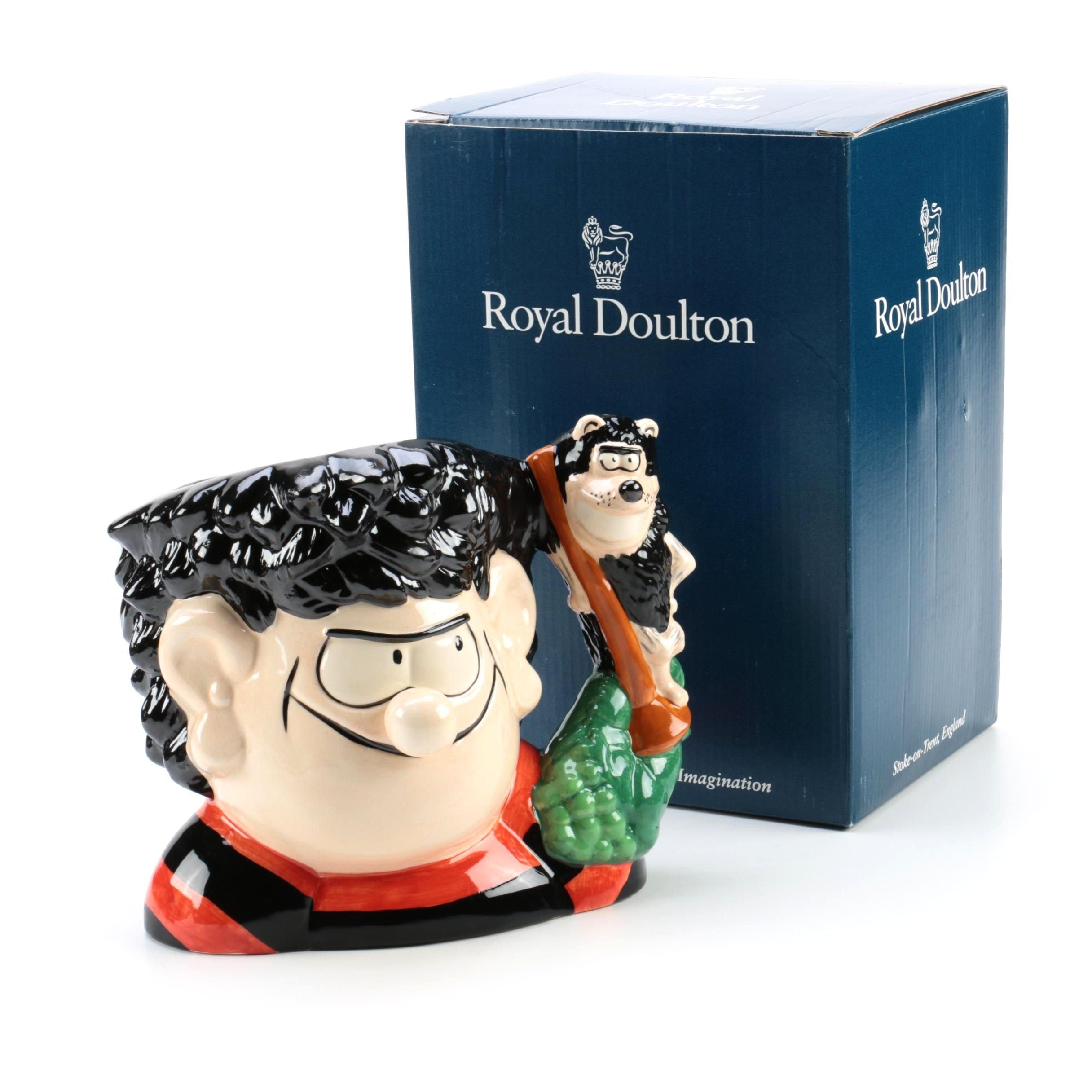 """Royal Doulton """"Dennis and Gnasher"""" Character Jug, Circa 1995"""