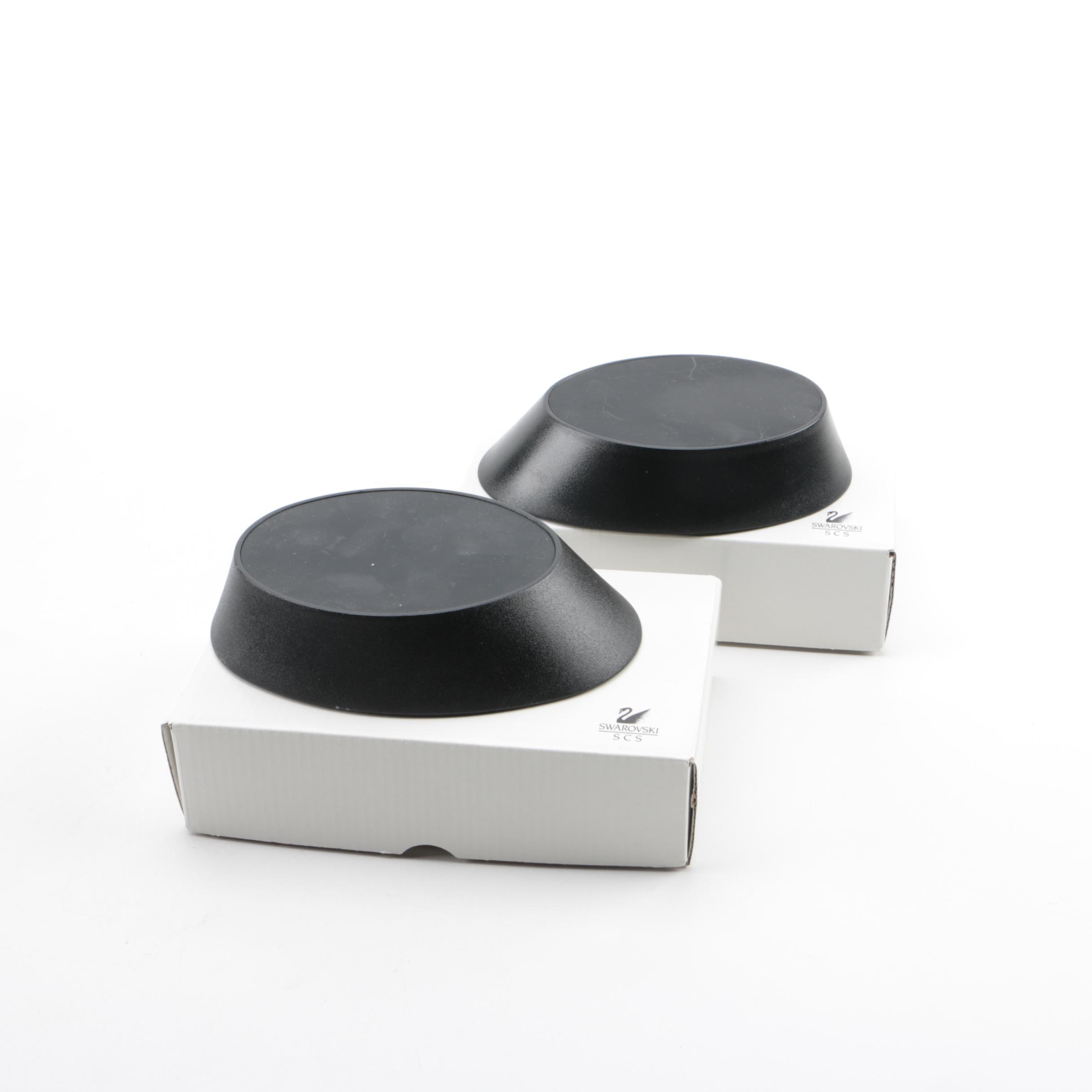 Swarovski Plastic Figurine Stands in Original Boxes