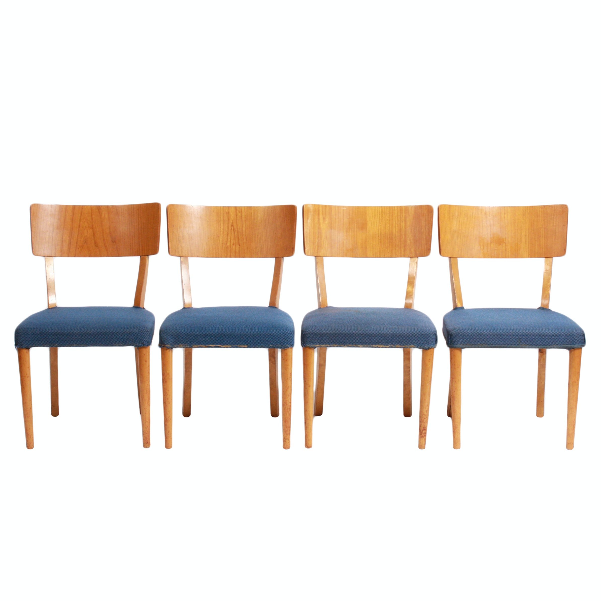 Four Swedish Mid Century Modern Teak Side Chairs by Petterson & Nilson